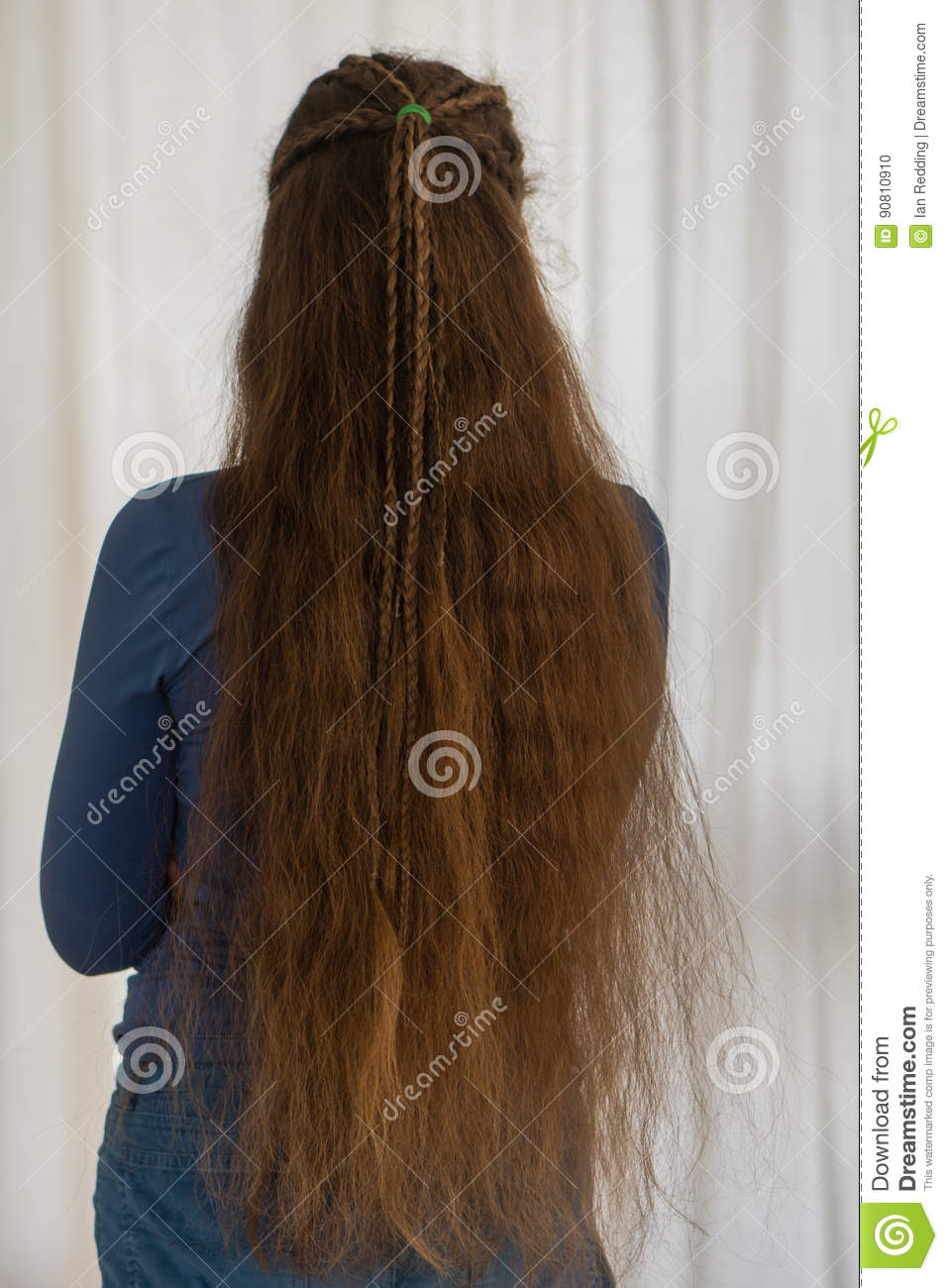 Loose Renaissance Hairstyle For Long Hair Stock Photo Image Of