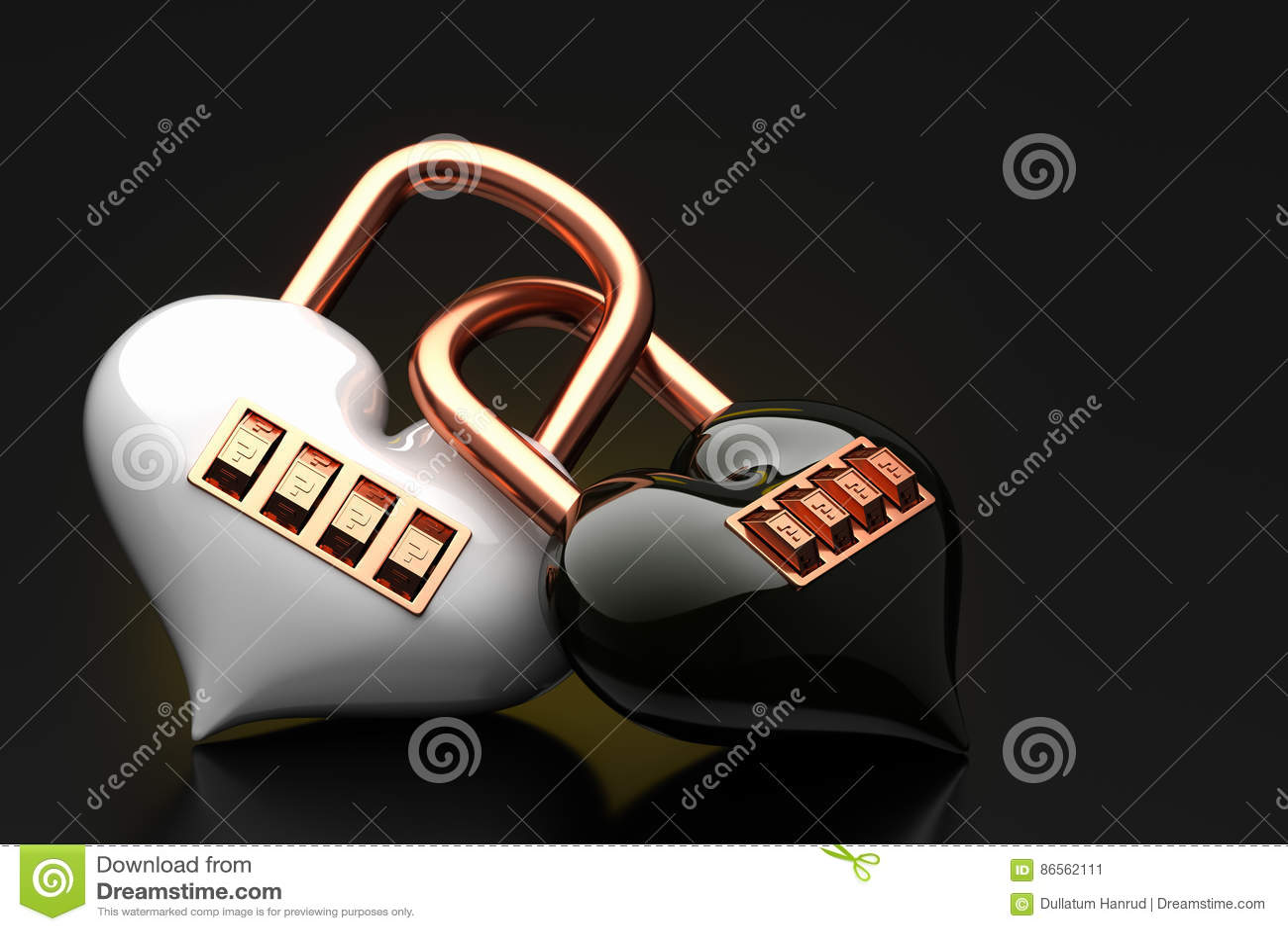 Loosen the lock code puzzle heart stock illustration loosen the lock code puzzle heart buycottarizona Choice Image