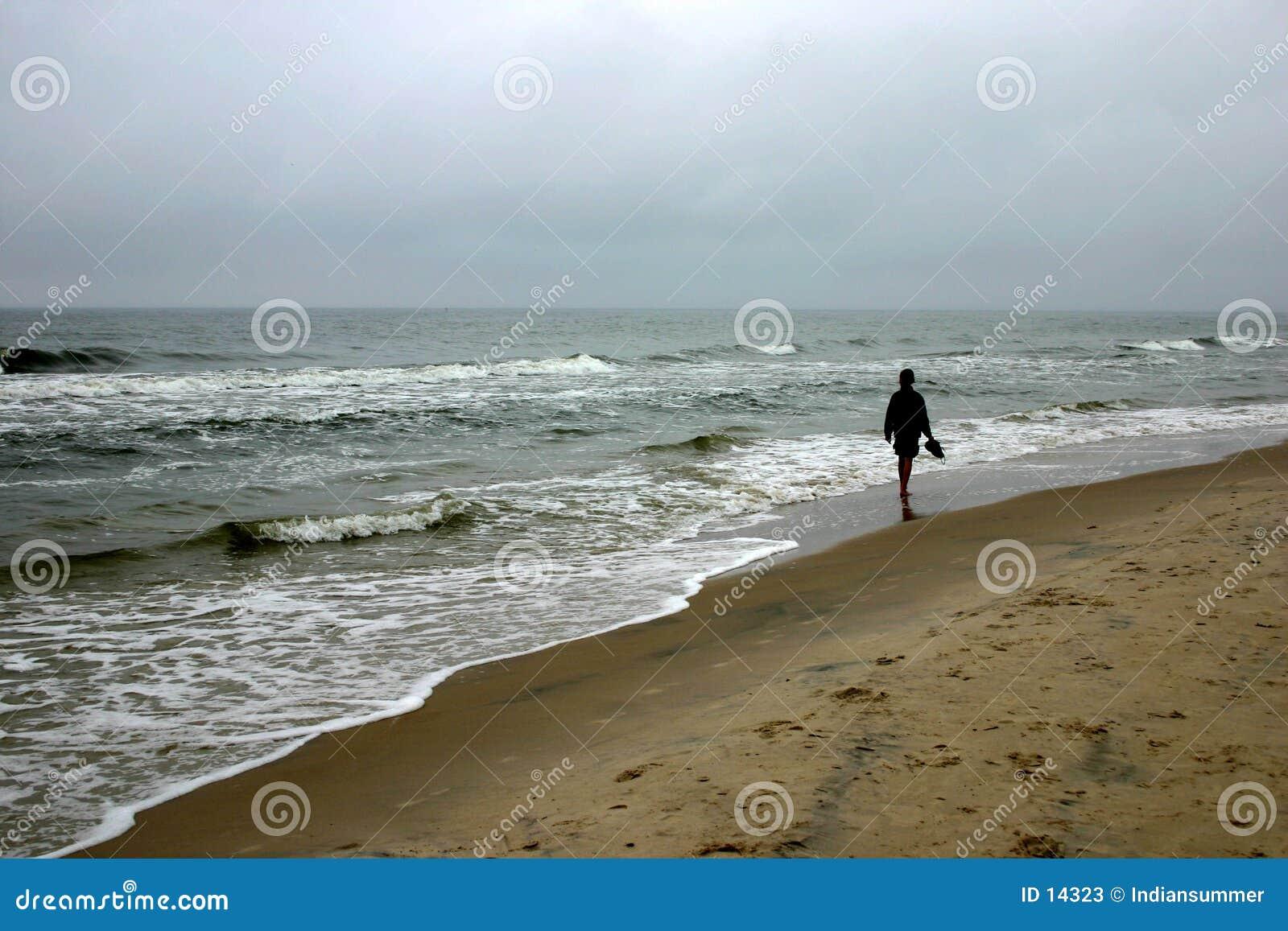 Lopend door zeekust, III