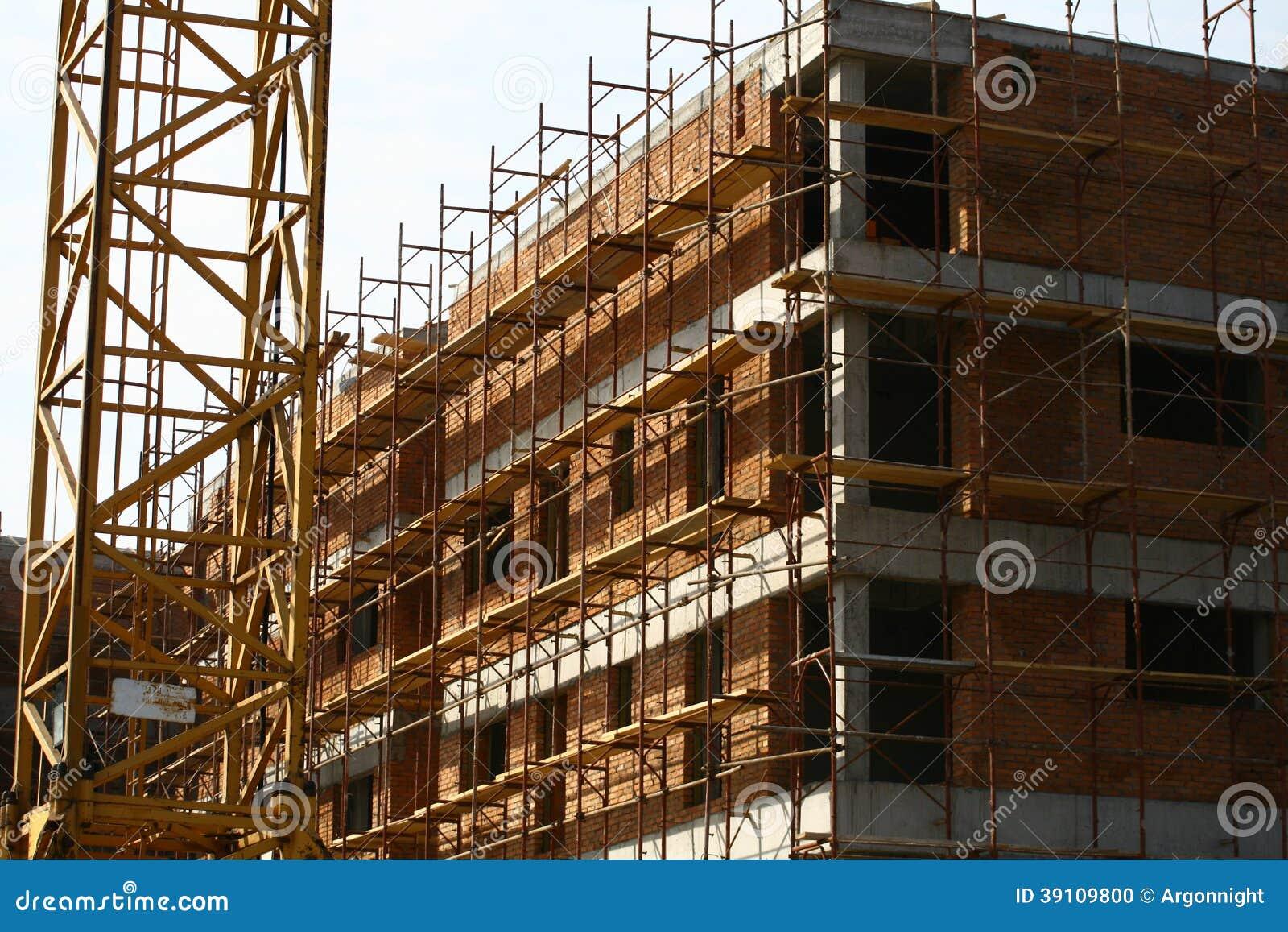 Lopende de bouw op bouwwerf
