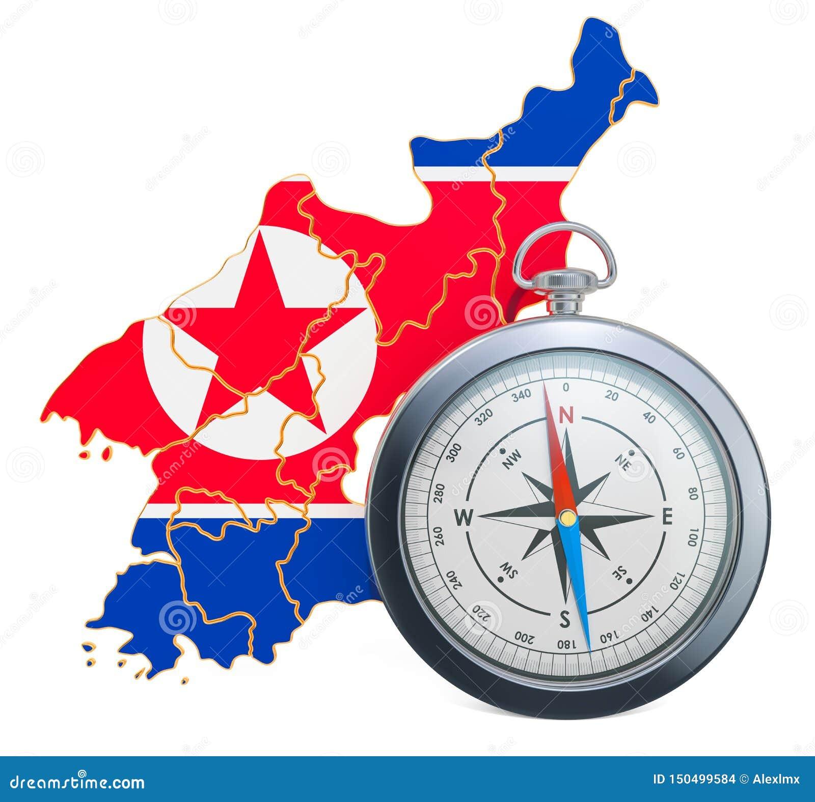Lopp eller turism i det Nordkorea begreppet framf?rande 3d