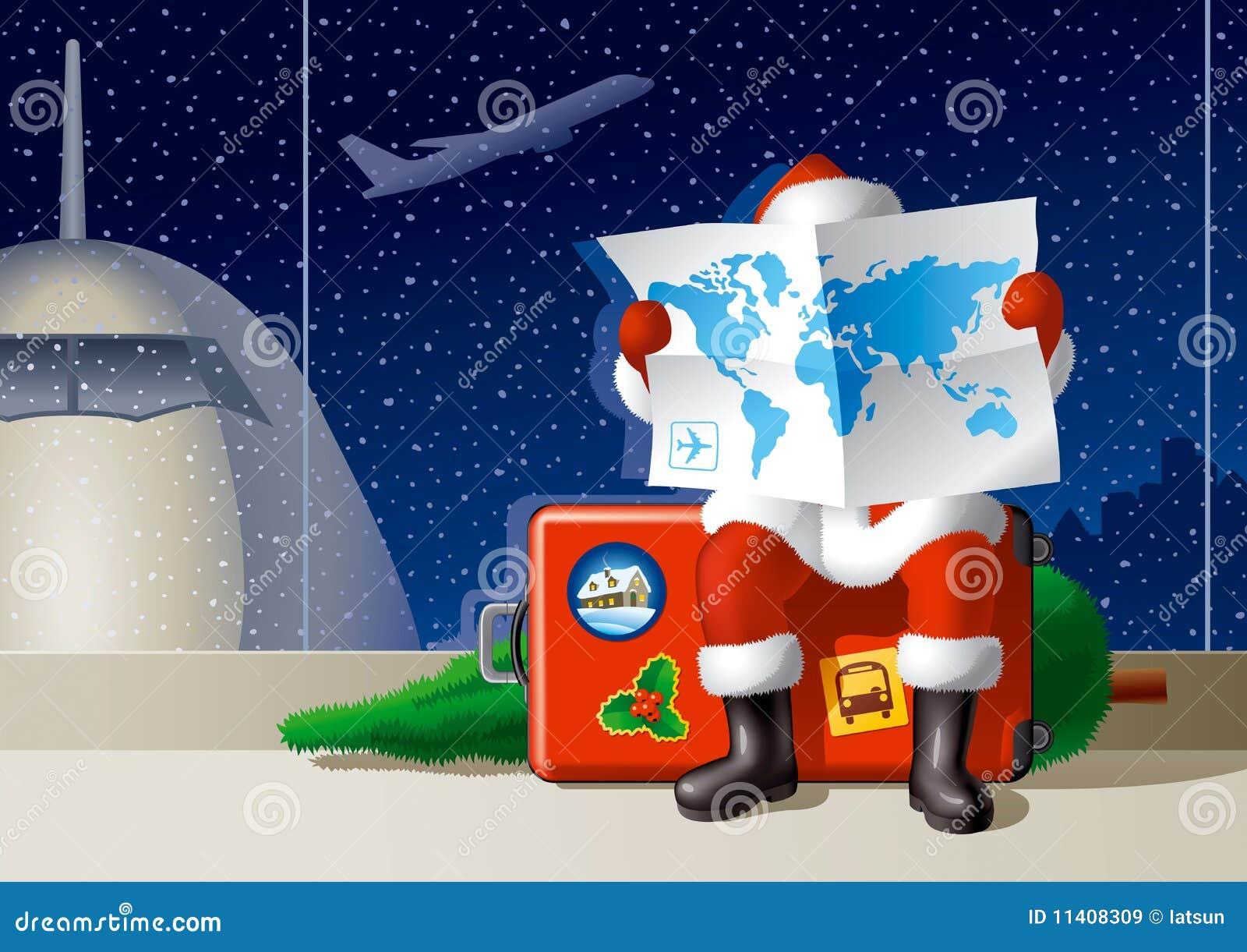Lopp för jul s santa
