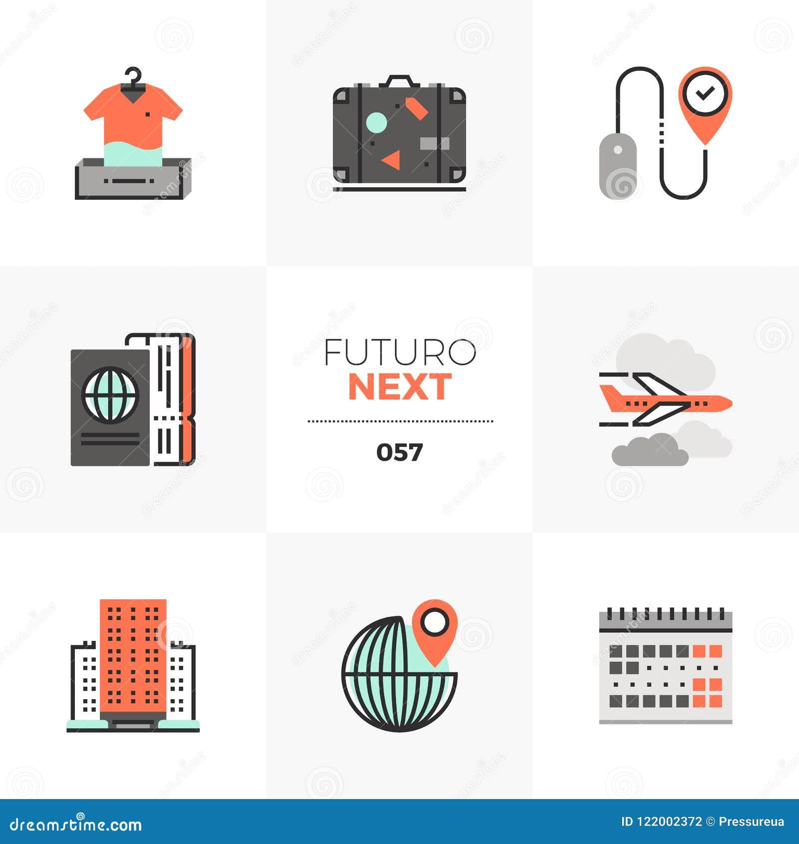 Lopp som planerar Futuro nästa symboler