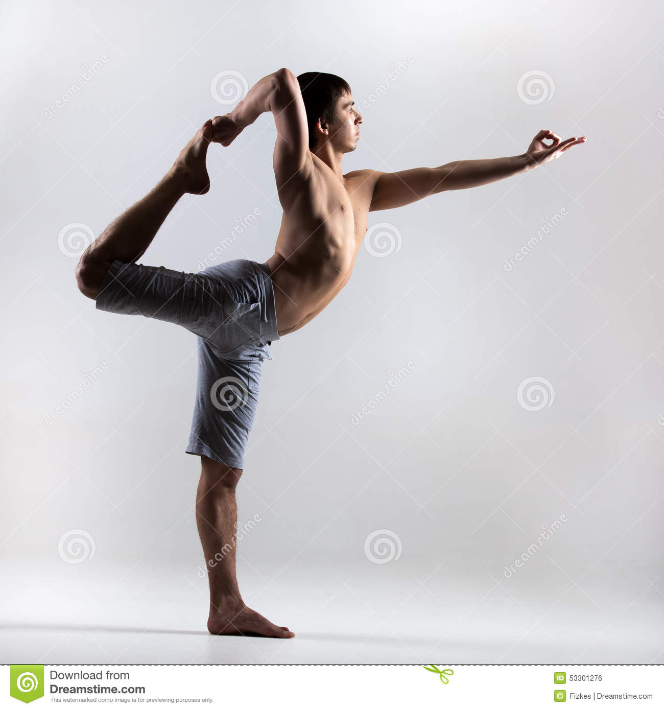 Download Lord Of The Dance Yoga Pose Stock Photo