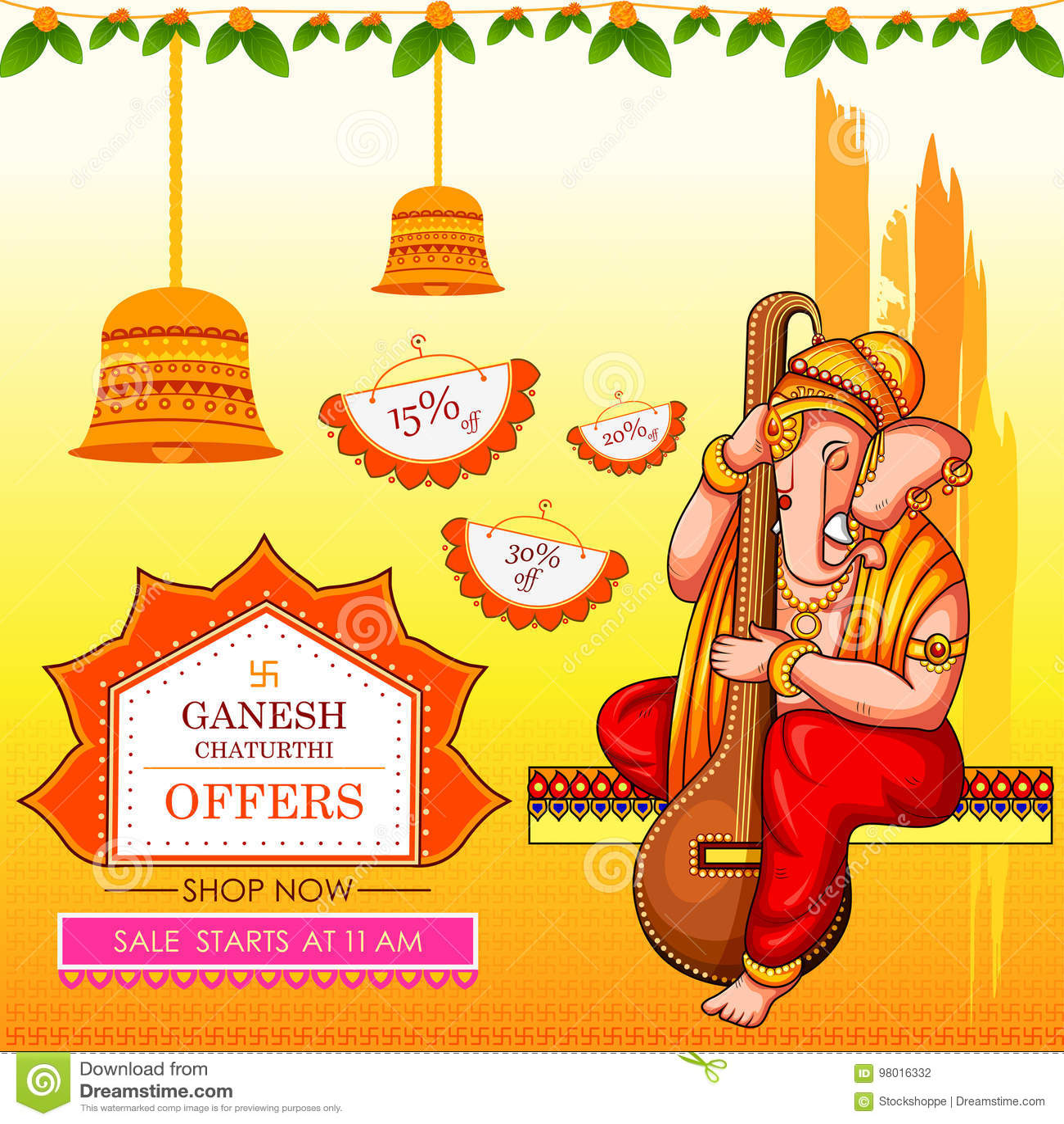 Lord Ganapati For Happy Ganesh Chaturthi Festival Shopping