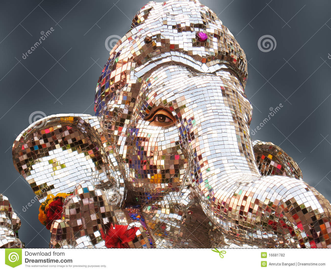Lord ganesha multi color painting hd image - Lord Ganesha Stock Photography