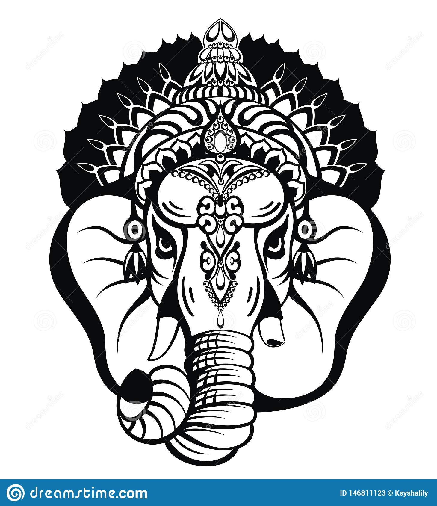 Lord Ganesha Illustration Of Lord Ganpati Background For Ganesh Chaturthi Festival Of India Stock Vector Illustration Of Ganesha Lord 146811123