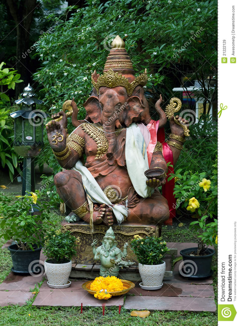 Royalty Free Stock Photo. Download Lord Ganesha Statue In The Garden ...