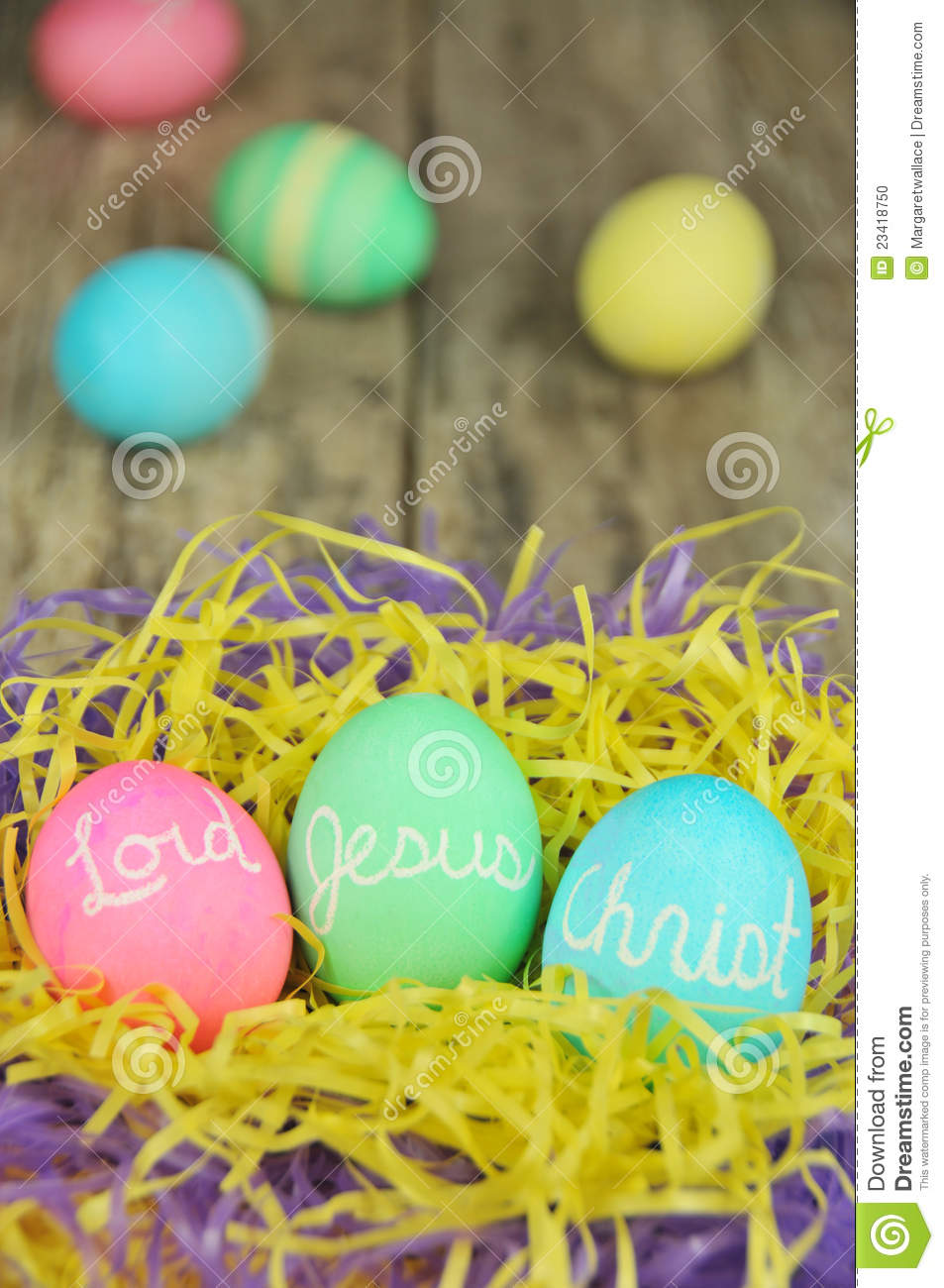 Lord Jesus Christ Easter Eggs Stock Photo - Image of dyed ... Easter Eggs Jesus