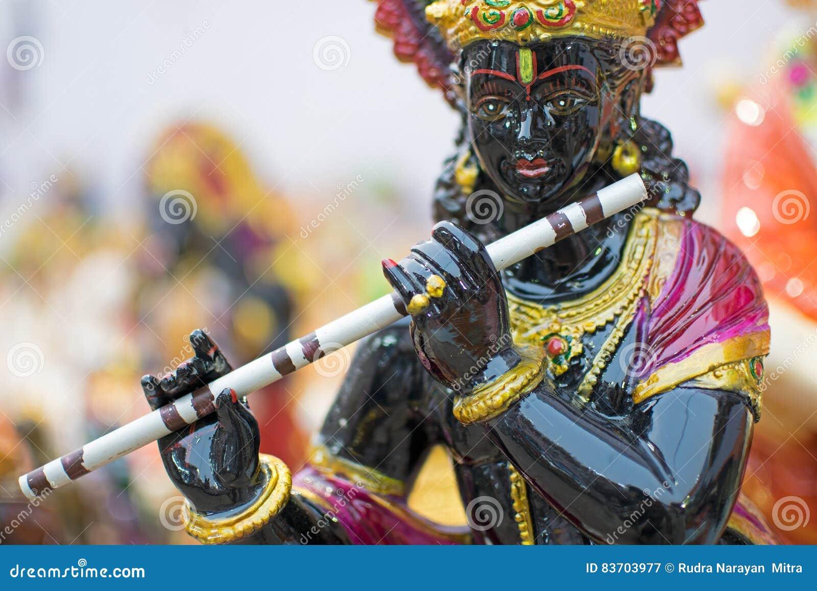 Lord Krishna, ambachtspunten op vertoning, Kolkata