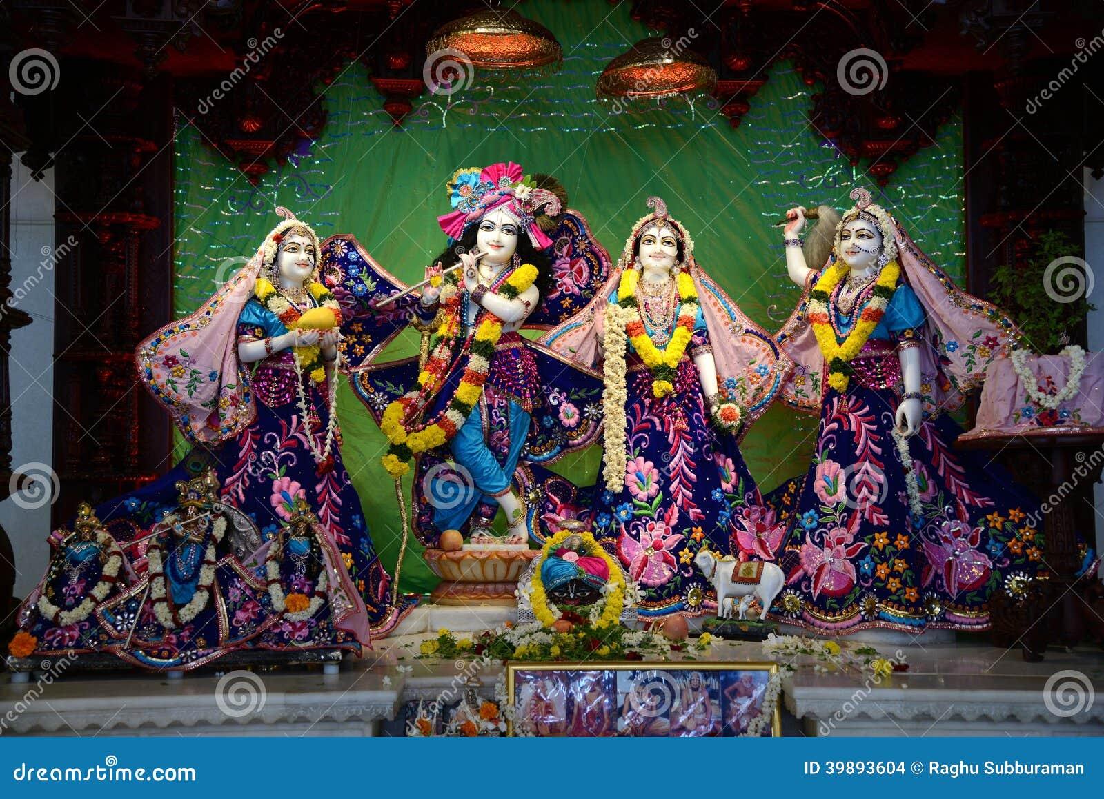 Lord Krishna en Radha