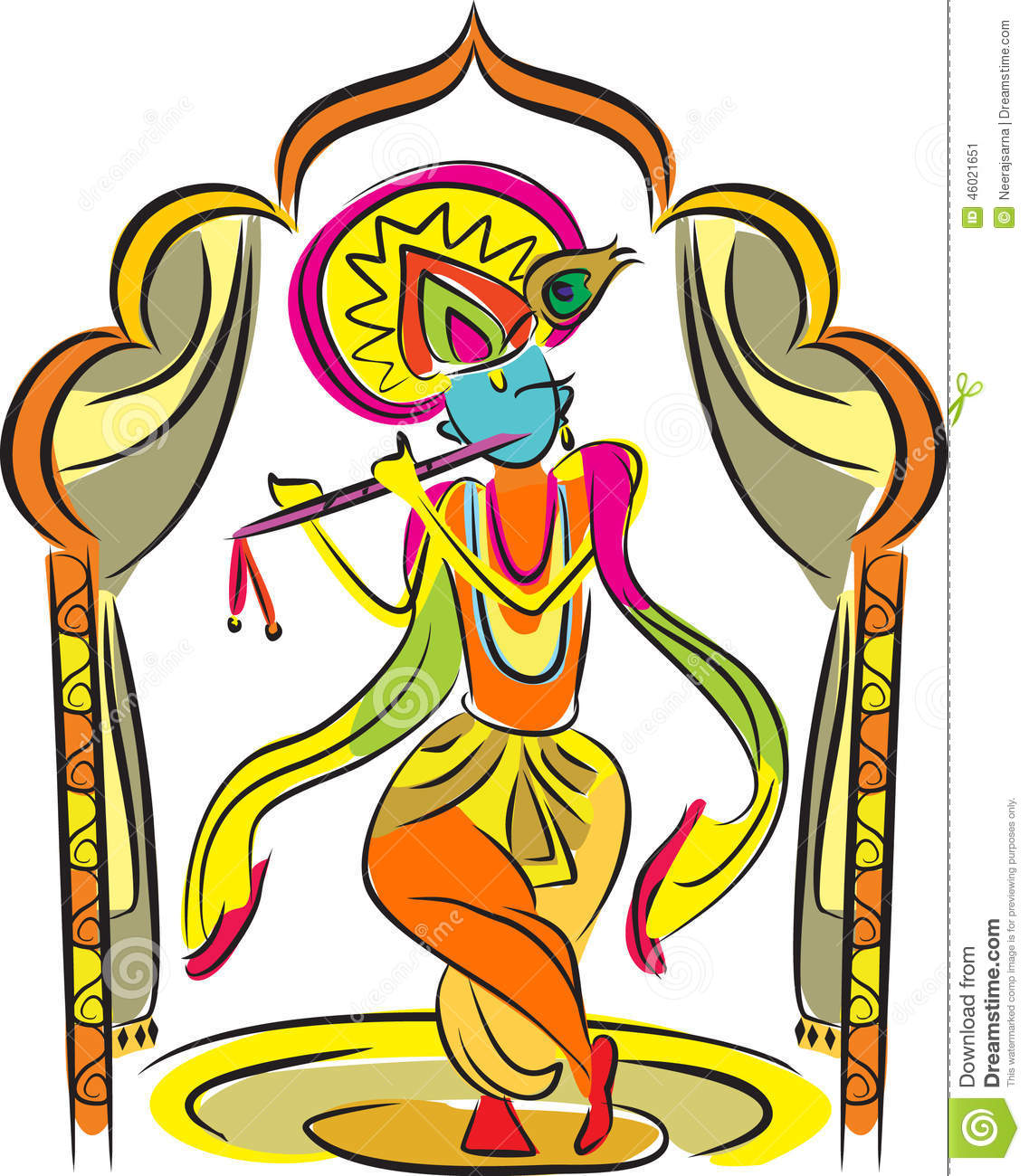Best Bal Krishna wall stickers Pictures for free download