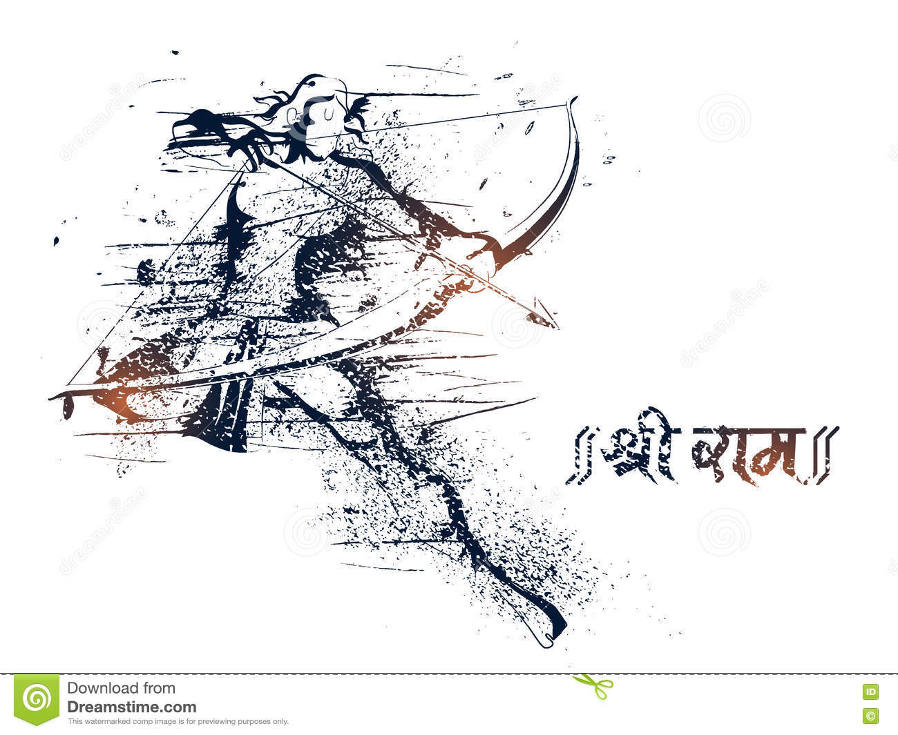 Lord Rama For Happy Dussehra Celebration Stock