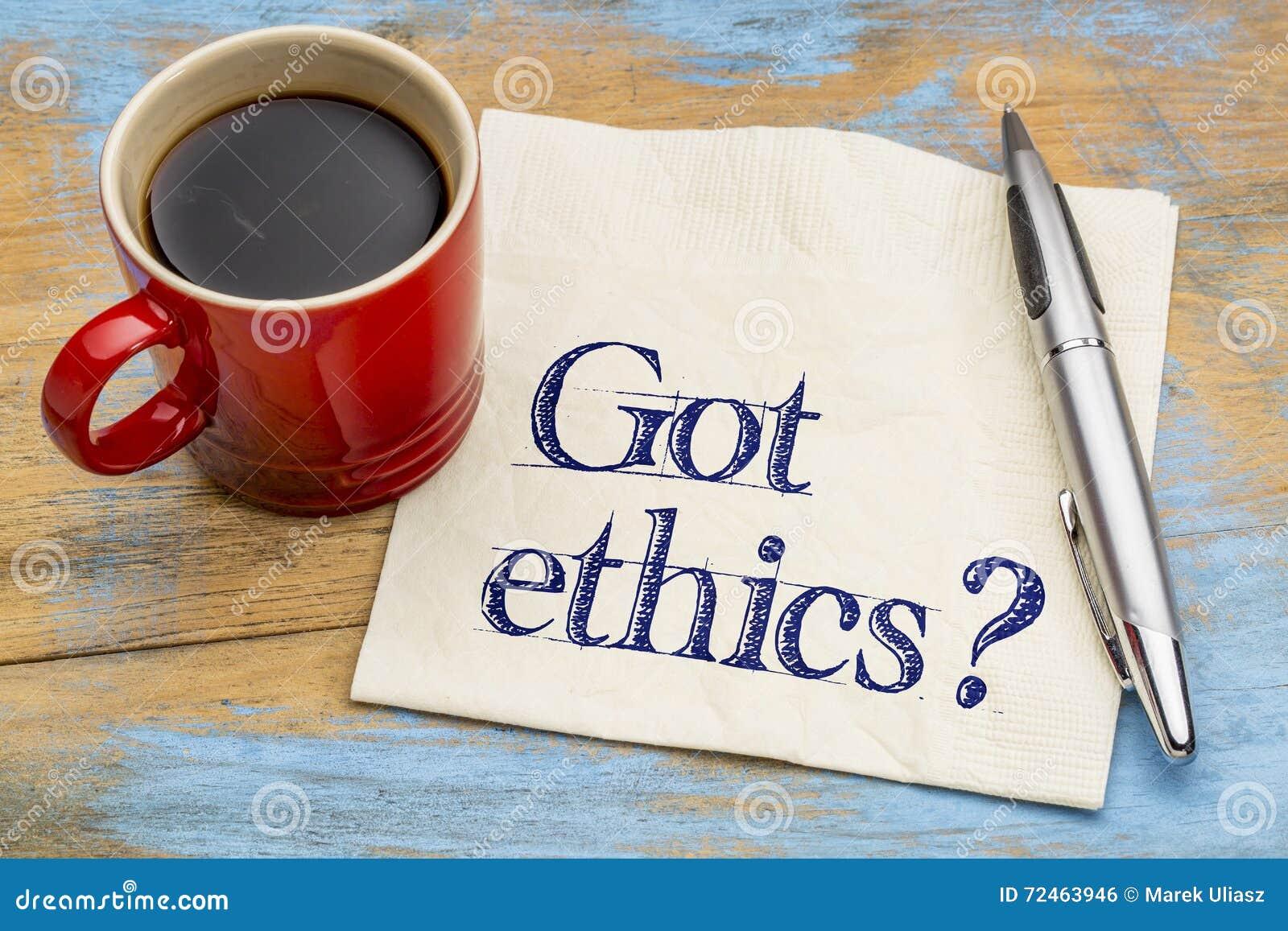 ¿Los éticas conseguidos? Pregunta sobre una servilleta