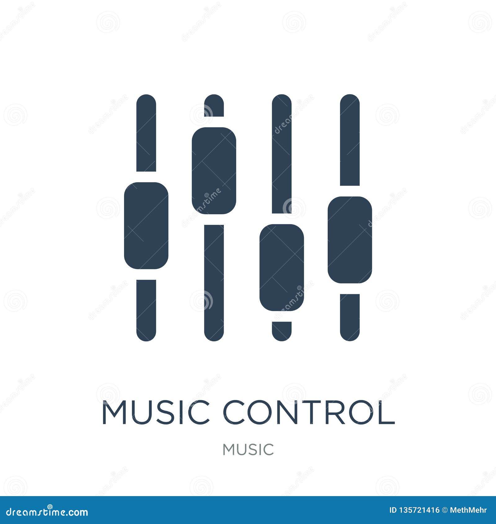 Los ajustes del control de la música abotonan el icono en estilo de moda del diseño los ajustes del control de la música abotonan