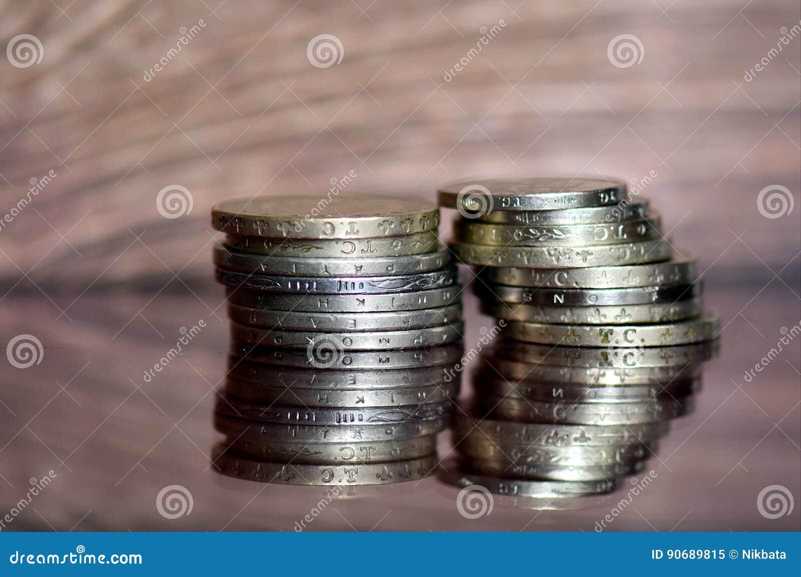 Los Alte Wertvolle Münzen Stockbild Bild Von Geld Fonds 90689815