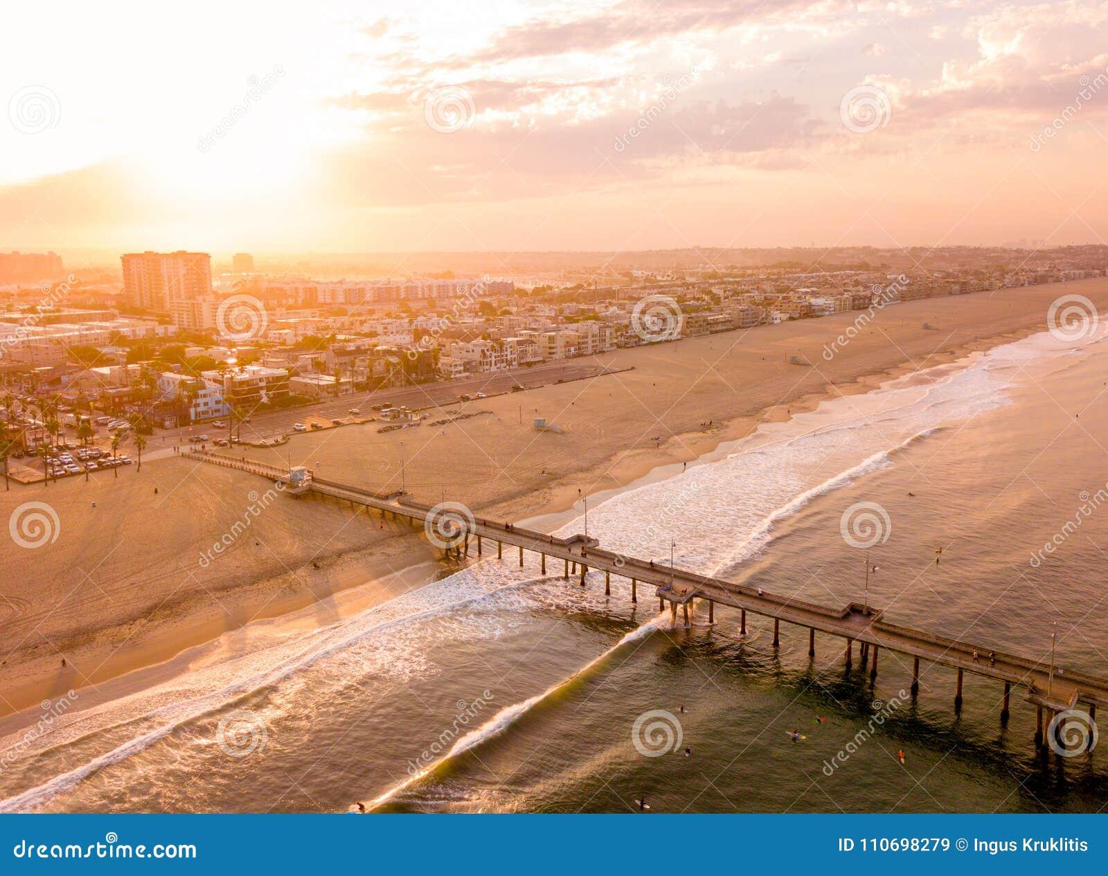 Los Angeles aerial sunrise
