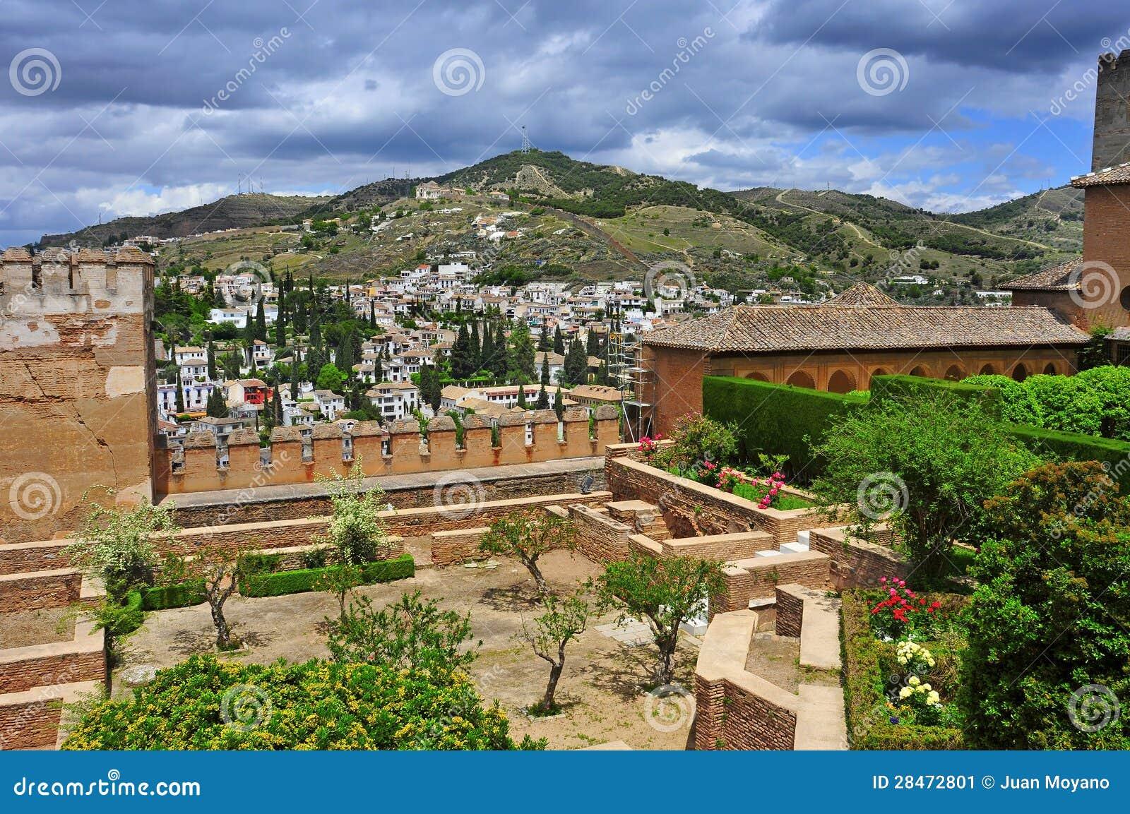 Los angeles alhambra w granada hiszpania obraz stock - Los angeles granada ...