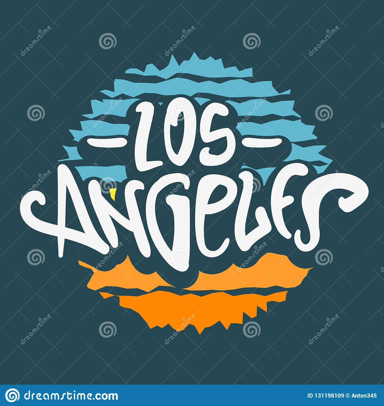Los Angeles California Label Sign Logo Hand Drawn Lettering Modern Calligraphy For T Shirt Or Sticker Vector Image Stock Vector Illustration Of Season Destination 131198109,Clash Of Clans Builder Hall 4 Base Design