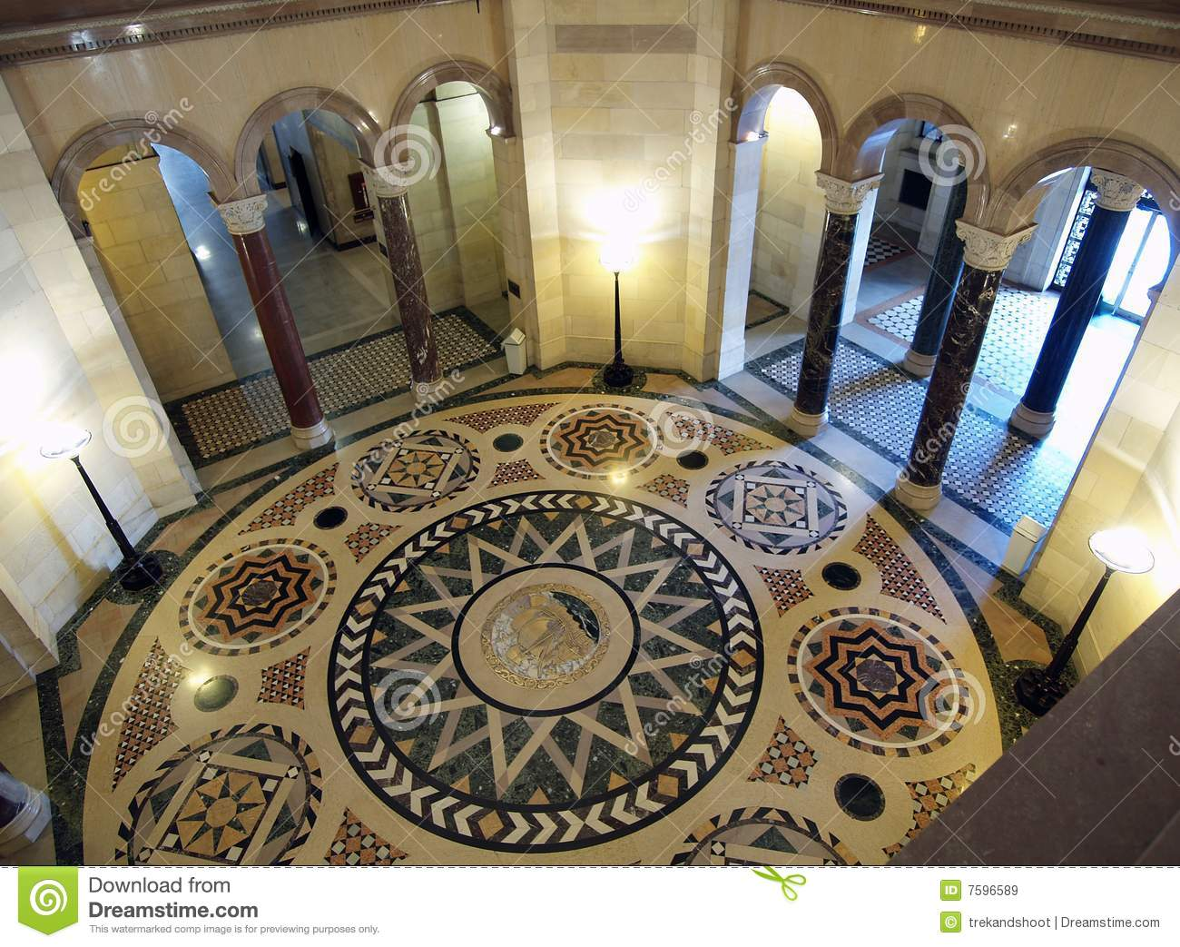 Los Angeles City Hall Rotunda Royalty Free Stock Images