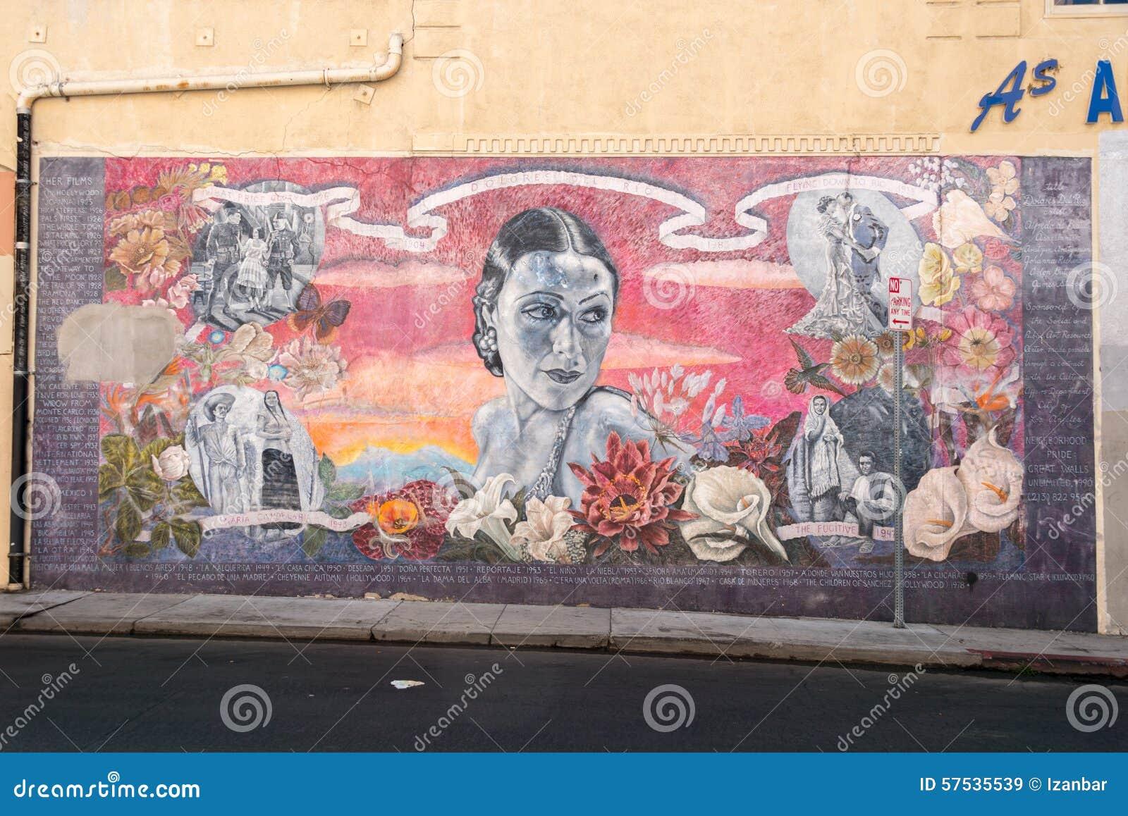 LOS ANGELES, de V.S. - 1 AUGUSTUS, 2014 - filmmuurschilderij op Gang van Bekendheid