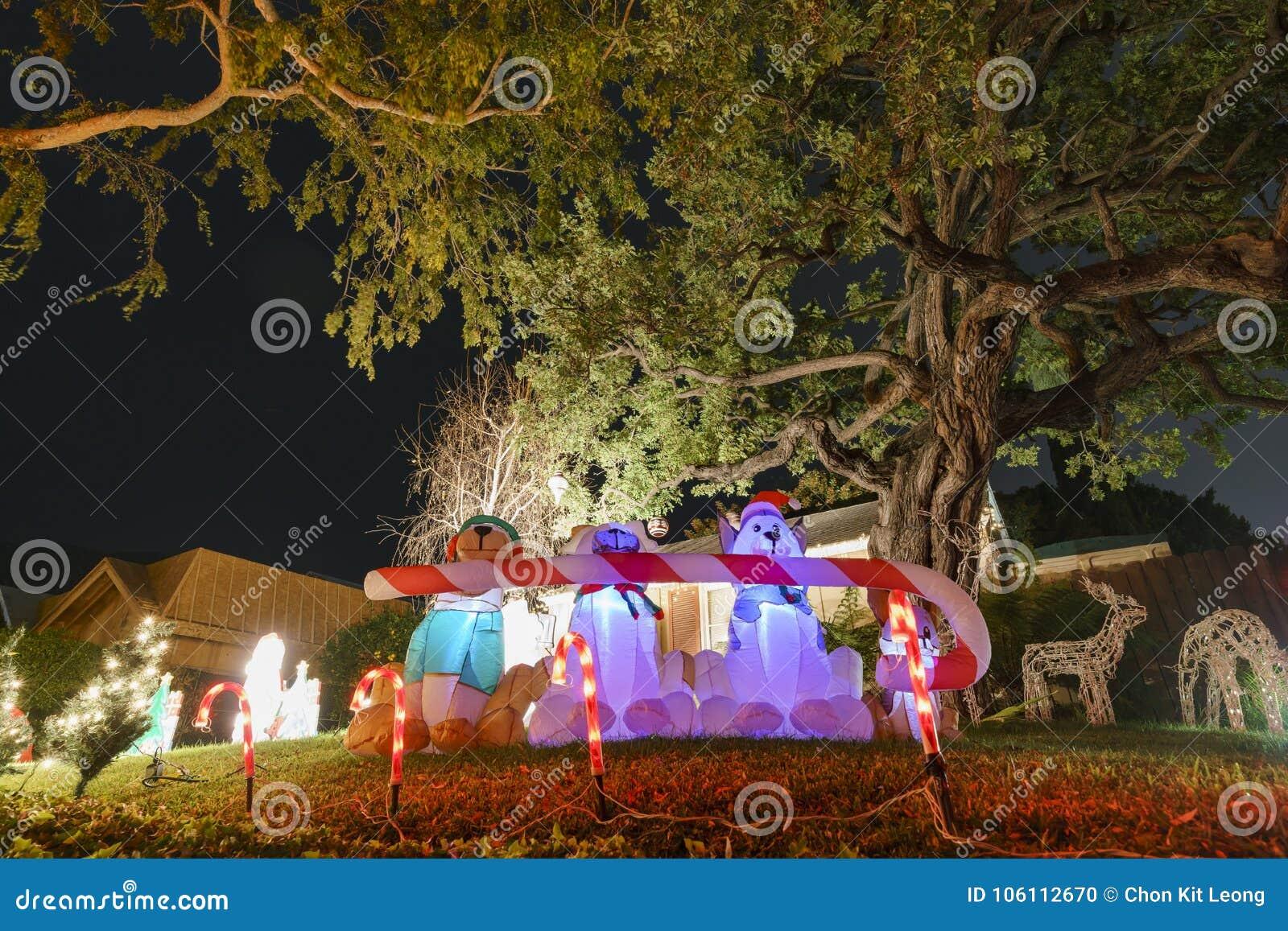 download beautiful christmas lights in upper hastings ranch neighborhood stock photo image of lights