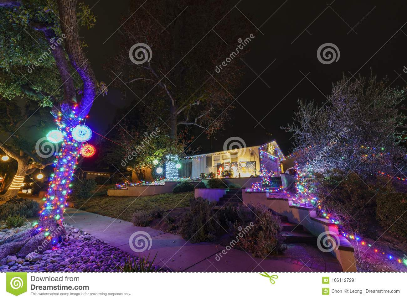 beautiful christmas lights in upper hastings ranch neighborhood - Hastings Ranch Christmas Lights