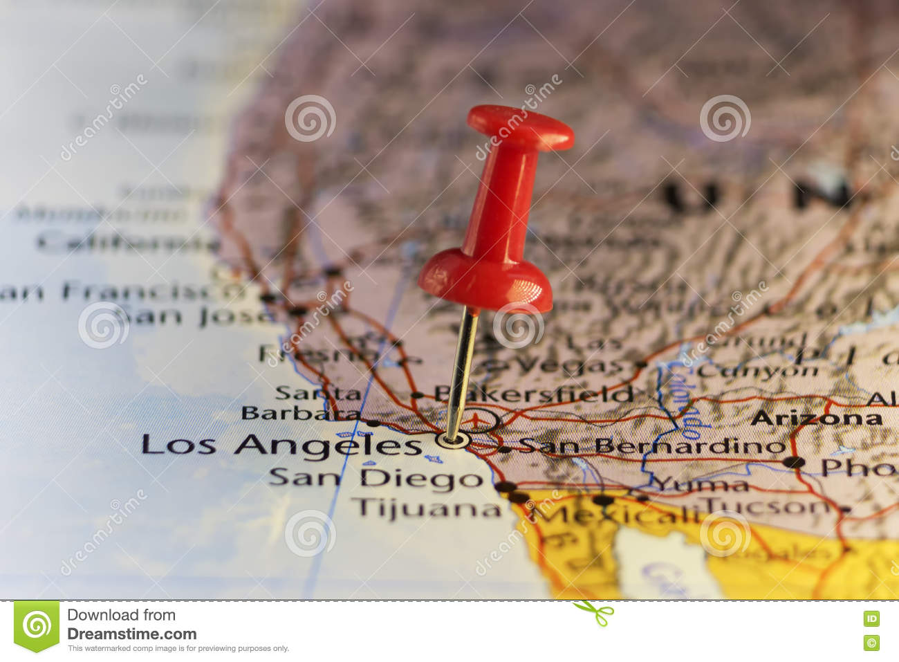 Cartoon Map Of California Stock Vector Art  IStock - Los angeles map download
