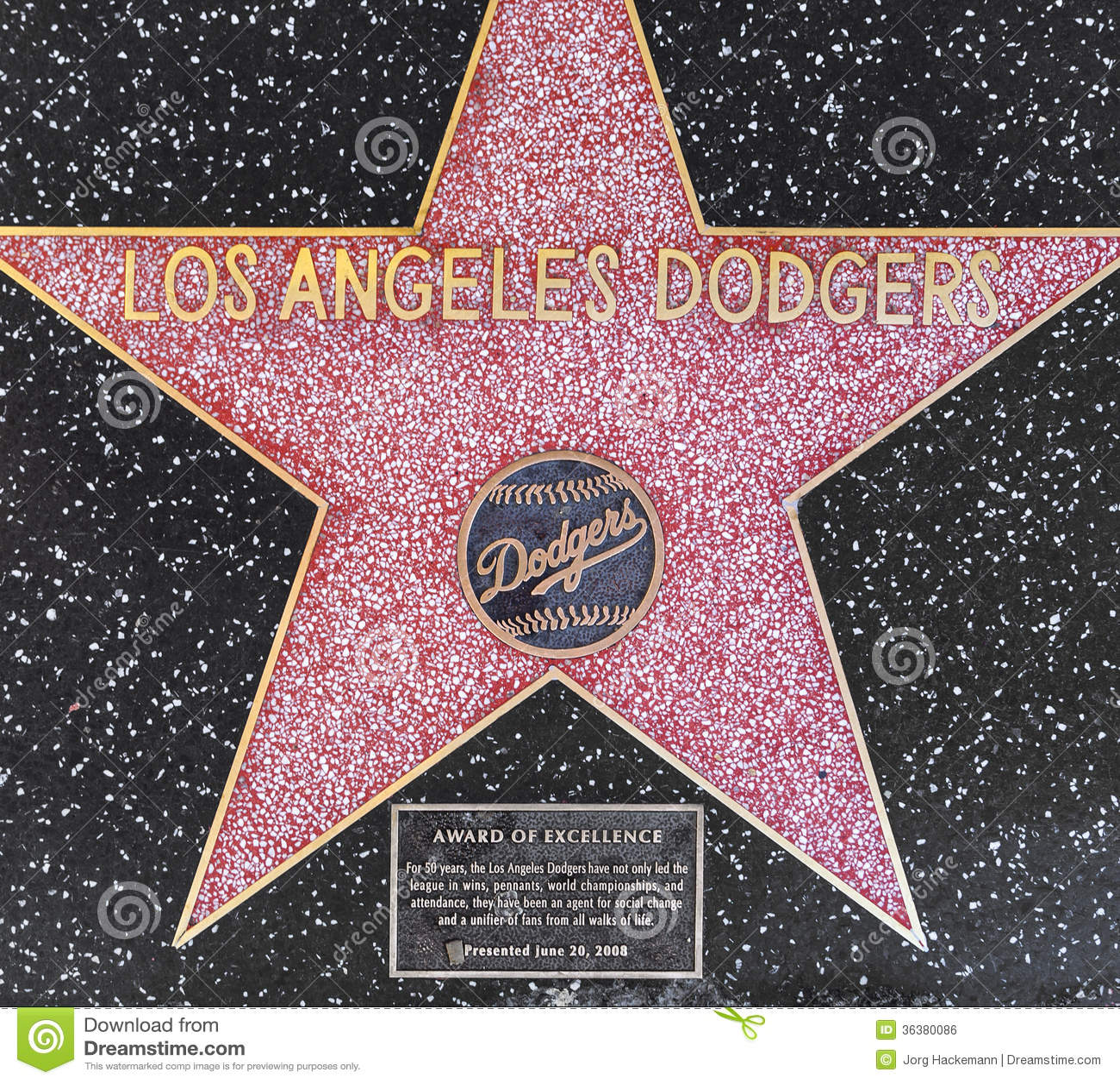 los angeles dodgers 39 star on hollywood walk of fame editorial photo image of stars movie. Black Bedroom Furniture Sets. Home Design Ideas