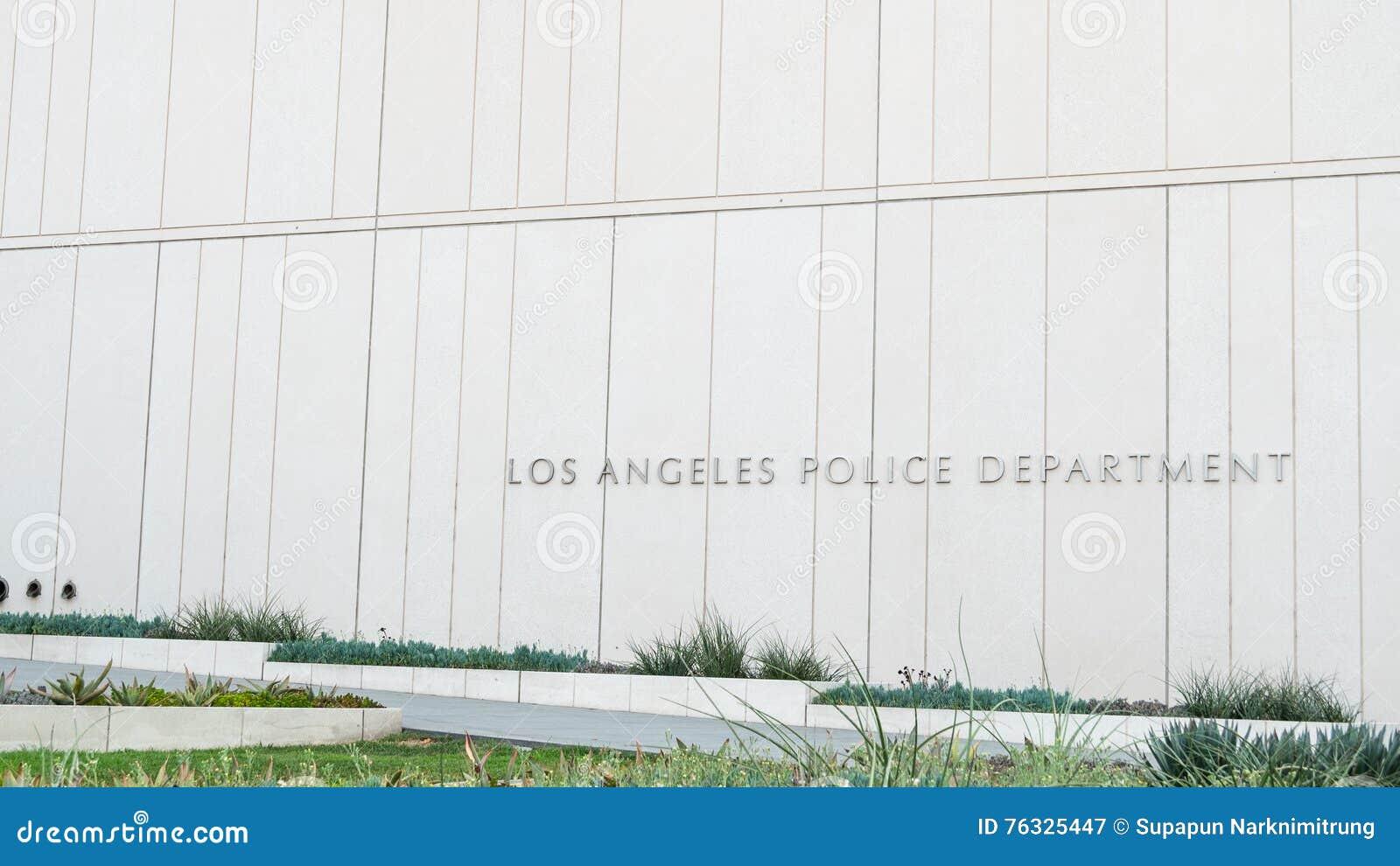 Los Angeles, Etats-Unis - 8 août 2016 : architecture extérieure gentille de conception du bâtiment de Département de Police de Lo