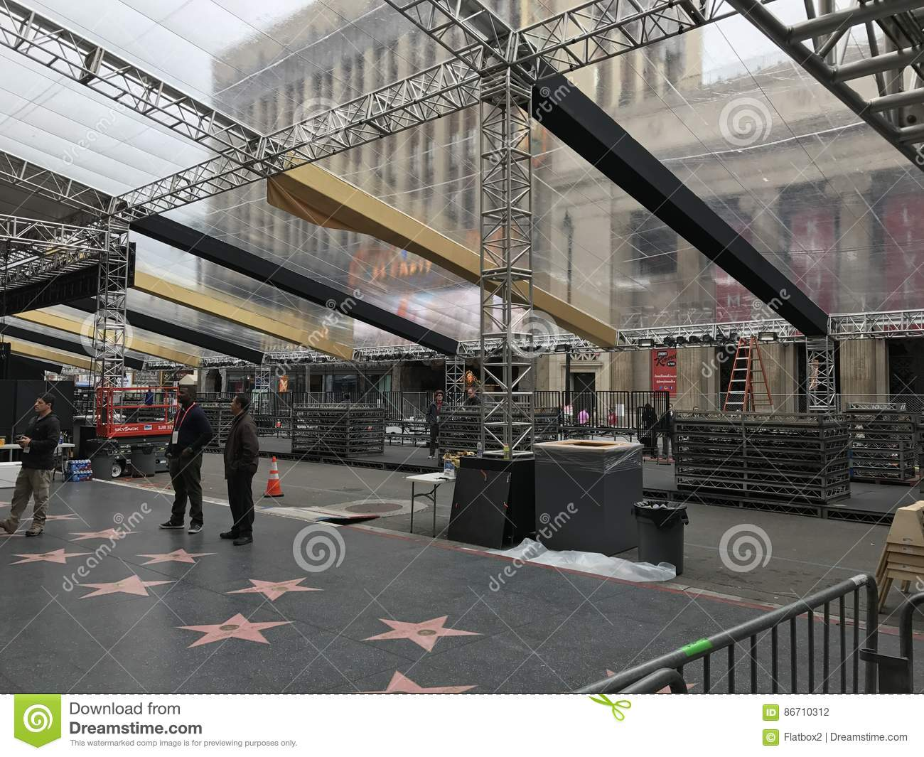 LOS ANGELES - FEB 21: Oscar preparations at the Dolby Theater, 2017 in Hollywood, Los Angeles, California