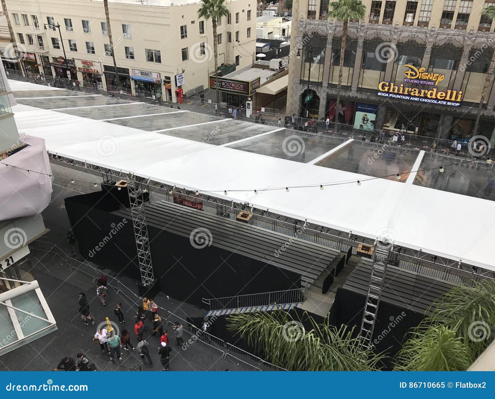 LOS ANGELES, FEB - 21: Oskar przygotowania przy Dolby teatrem, 2017 w Hollywood, Los Angeles, Kalifornia