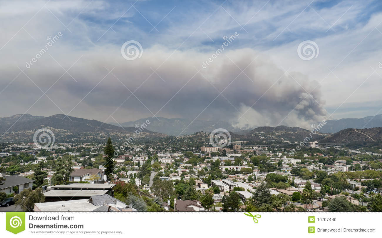 Fires California Map >> Los Angeles Forest Fire Editorial Image - Image: 10707440