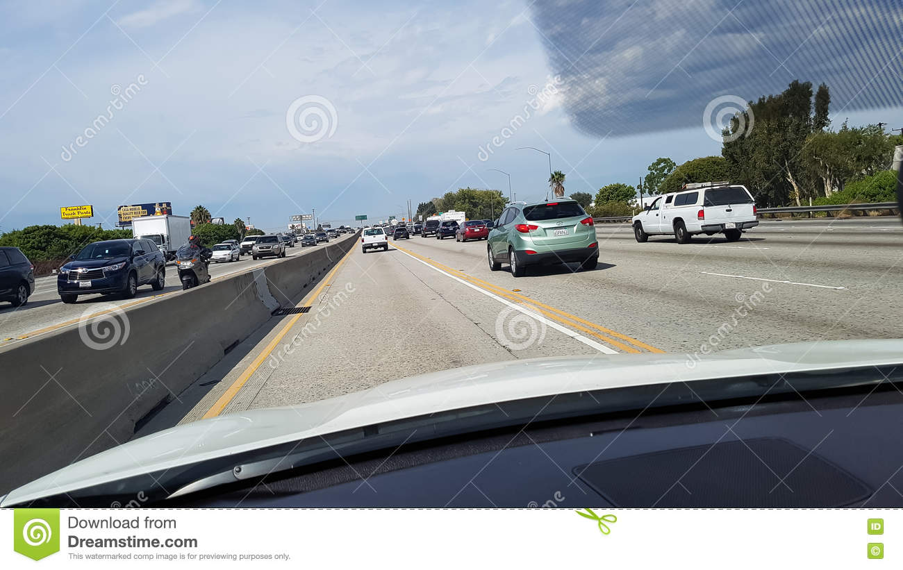Los Angeles Freeway editorial photo  Image of scanted - 78578901