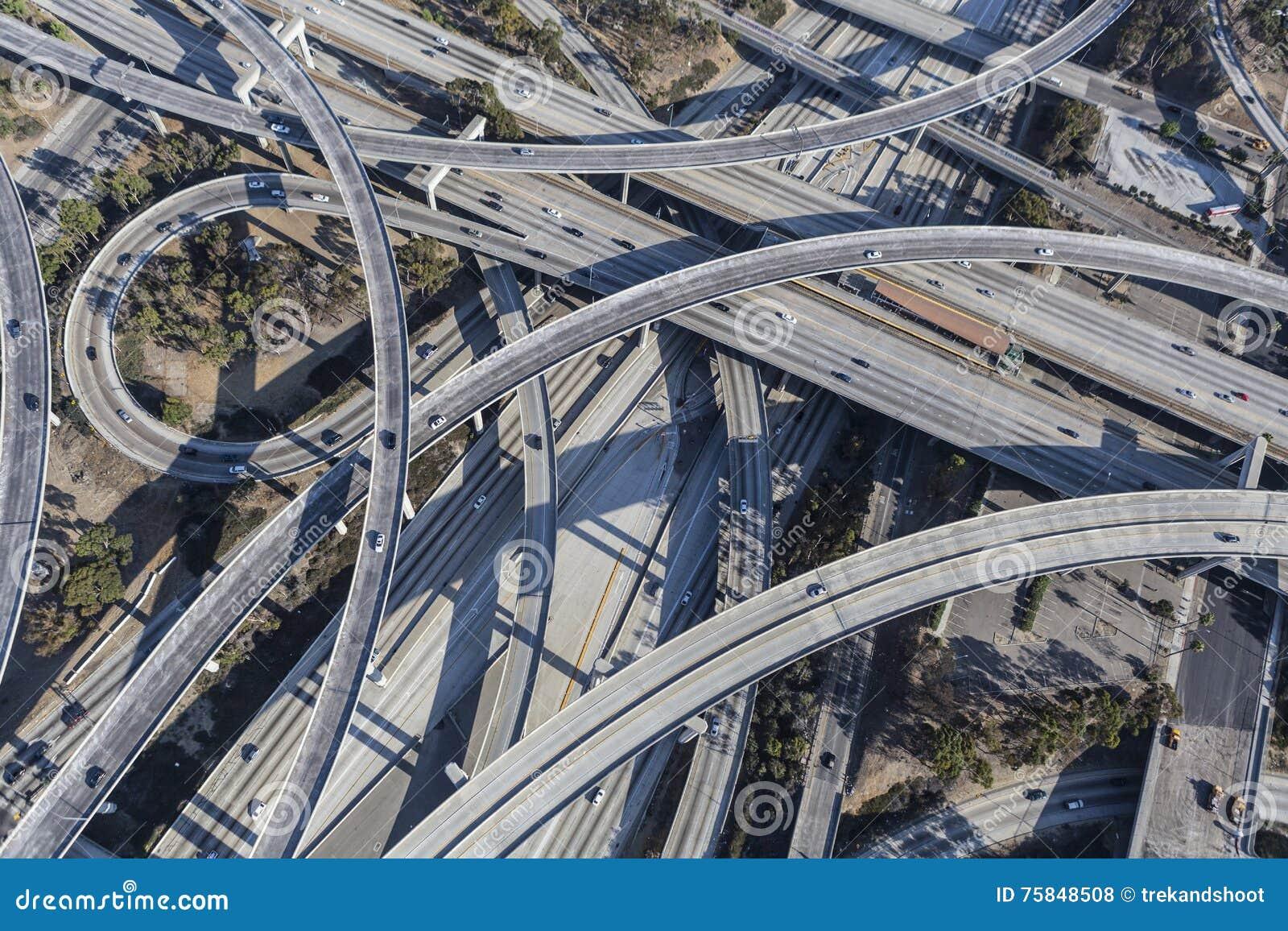 Los Angeles 110 i 105 autostrady wymiany rampy Powietrzne