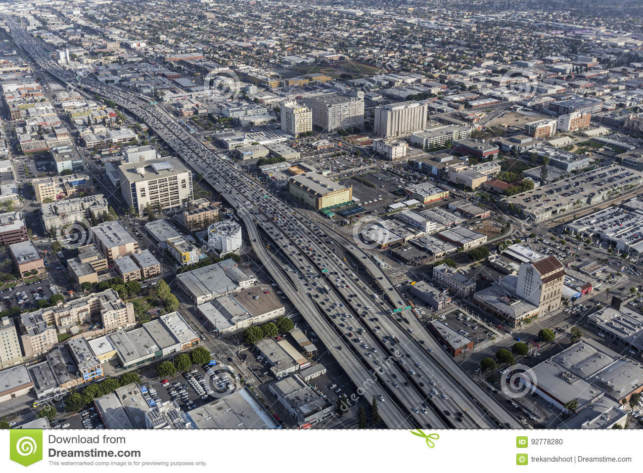Los angeles interstate 10 freeway aerial editorial image image editorial stock photo download los angeles interstate 10 sciox Choice Image