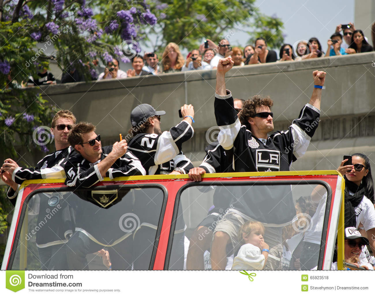70d1848e9 Los Angeles Kings Stanley Cup Victory Parade Editorial Stock Photo ...