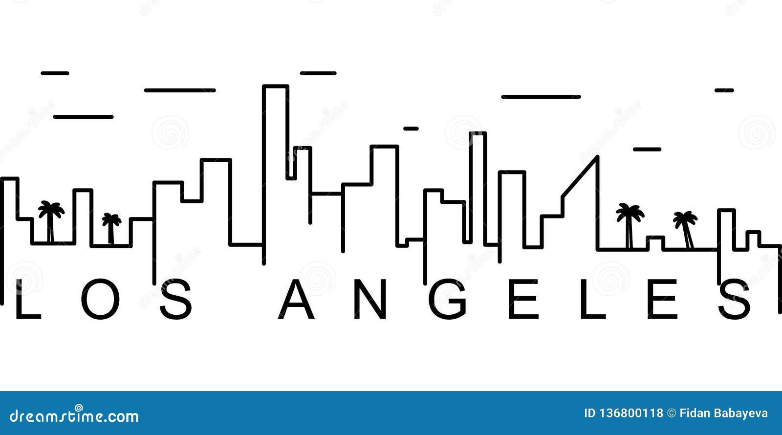 Los Angeles konturu ikona Może używać dla sieci, logo, mobilny app, UI, UX
