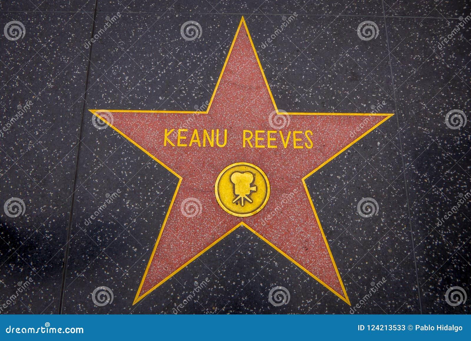 Los Angeles, la Californie, Etats-Unis, JUIN, 15, 2018 : Vue extérieure d étoile de Keanu Reeves sur la promenade de Hollywood de