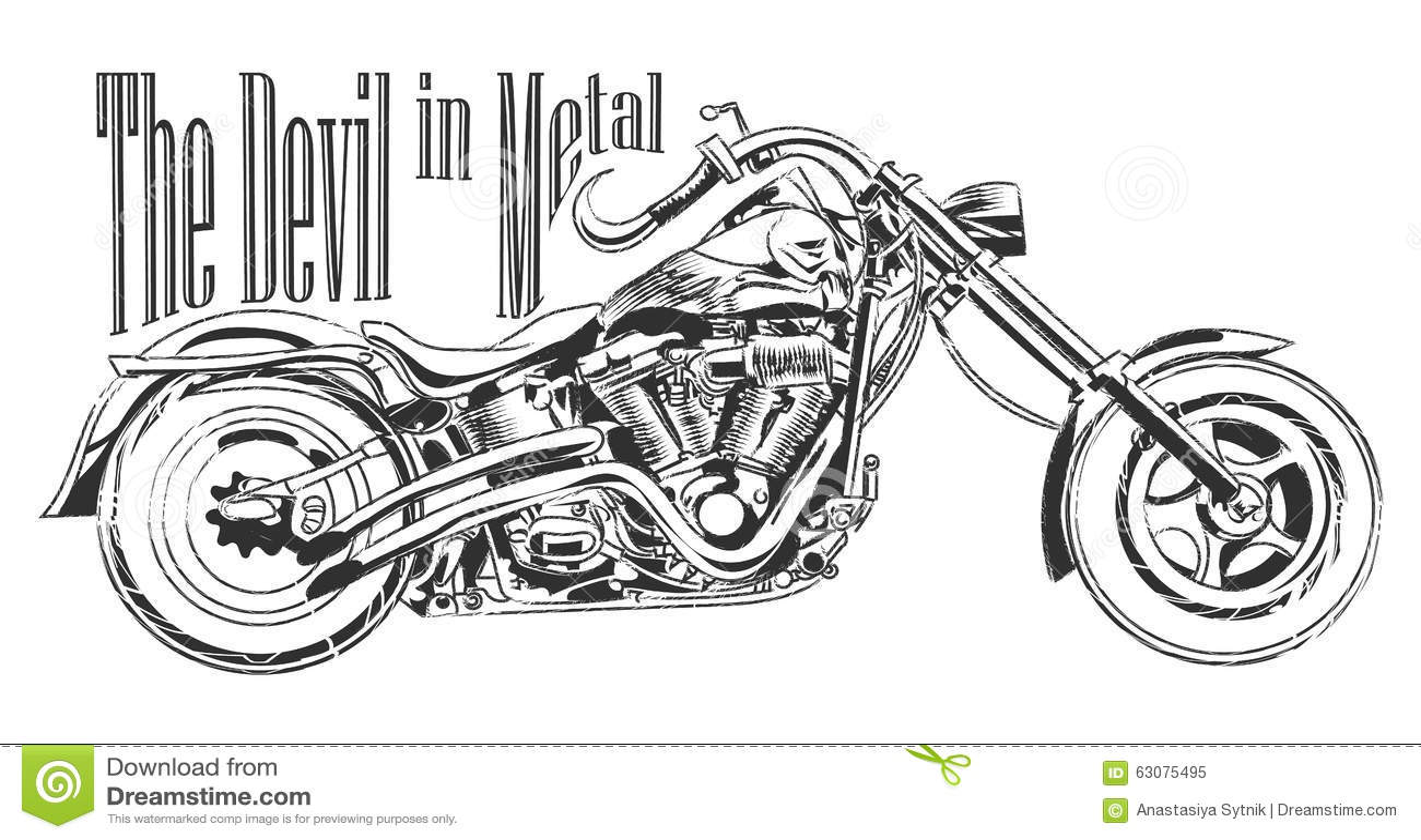 Shirt design los angeles - Los Angeles Motorbike Illustration Tee Shirt Graphic Design