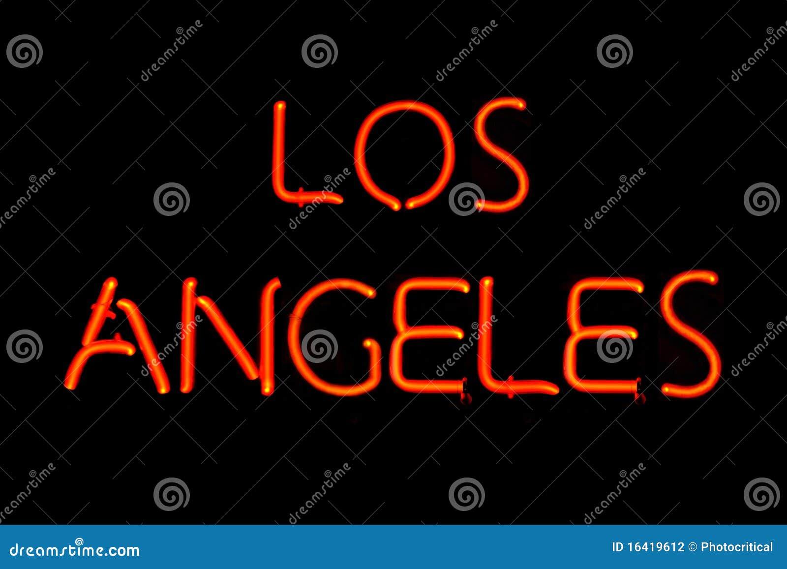 Los Angeles Neon Sign Stock Photo Image Of Illuminated
