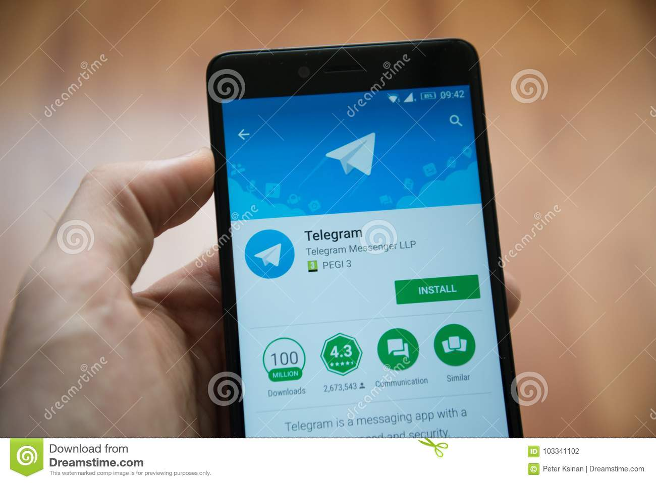 Telegram Application In Google Play Store Editorial Photography Image Of Button Popular 103341102