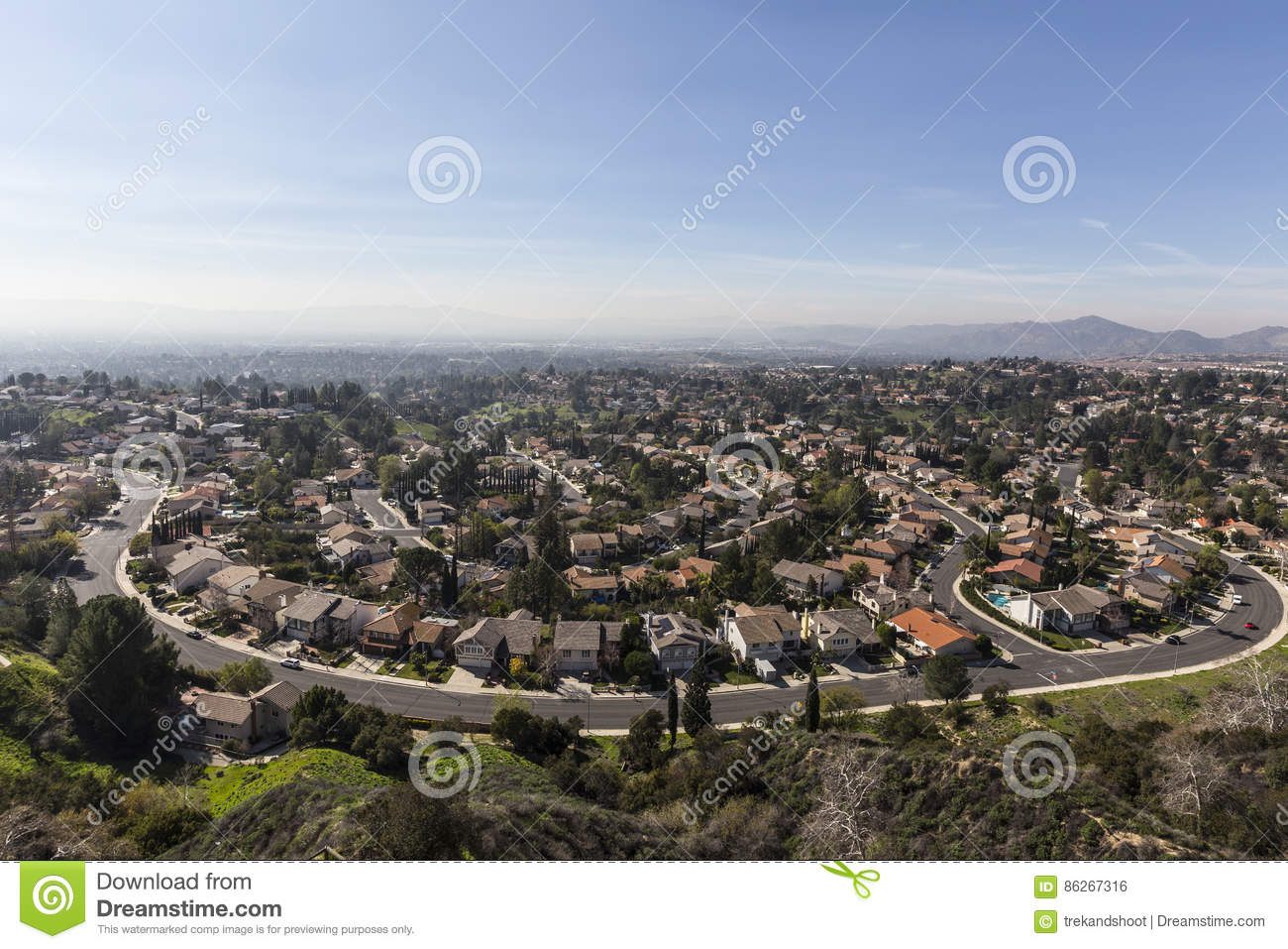 Los Angeles Smog Porter Ranch Streets Stock Photo Image - Los angeles map porter ranch