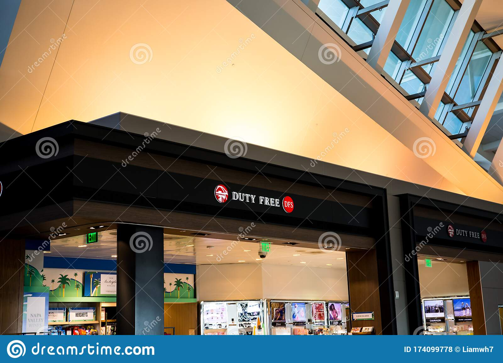 Los Angeles Usa 02 02 2020 Los Angeles International Airport Inside Duty Free Shopping No Tax Editorial Stock Photo Image Of Inside Gate 174099778