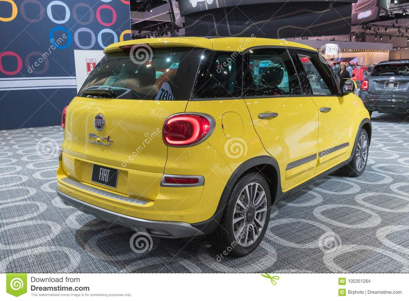 Fiat 500l On Display During La Auto Show Editorial Stock Image Image Of Automotive Drive 105351264
