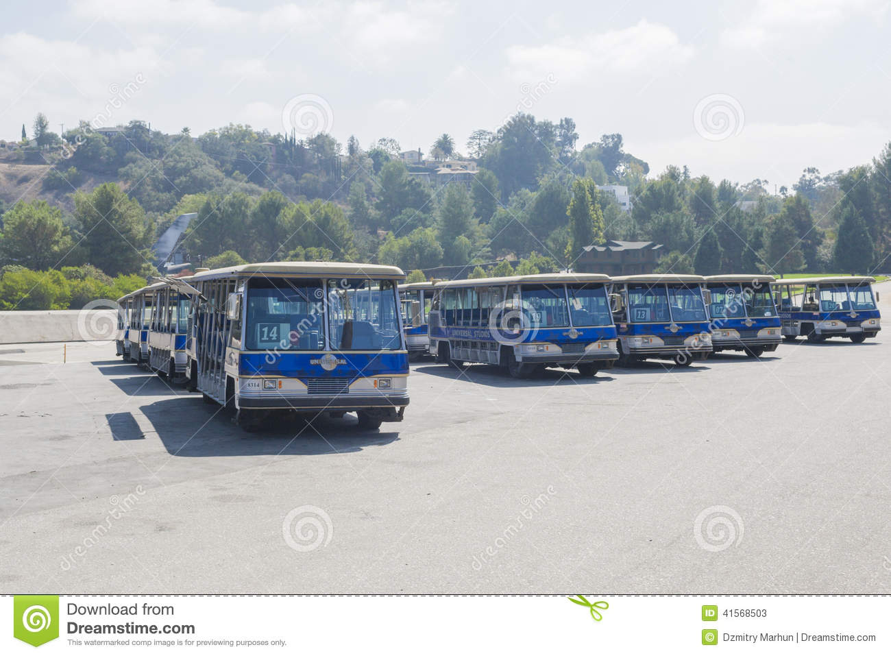 Los Angeles -USA, October, 2: Excursion Blue Buses In One Standi