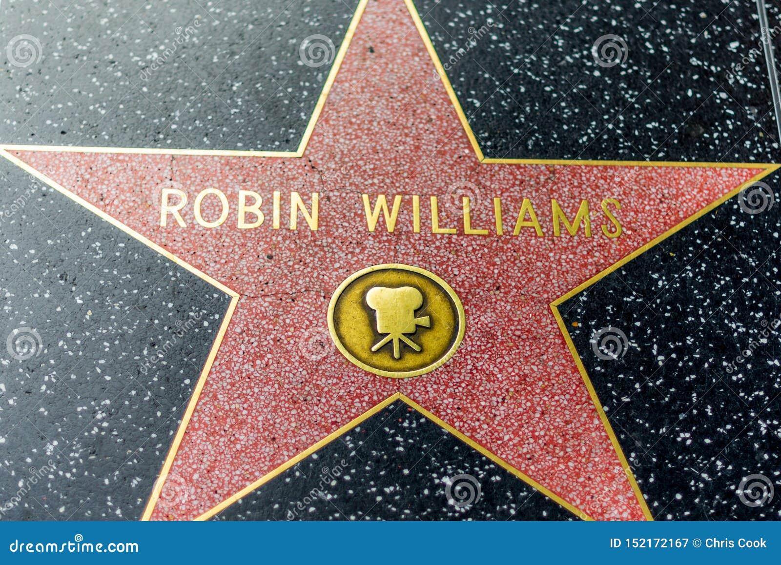 LOS ANGELES, usa - 30TH 2018 PAŹDZIERNIK: Denata Robin Williams gwiazda na Hollywood hall of fame