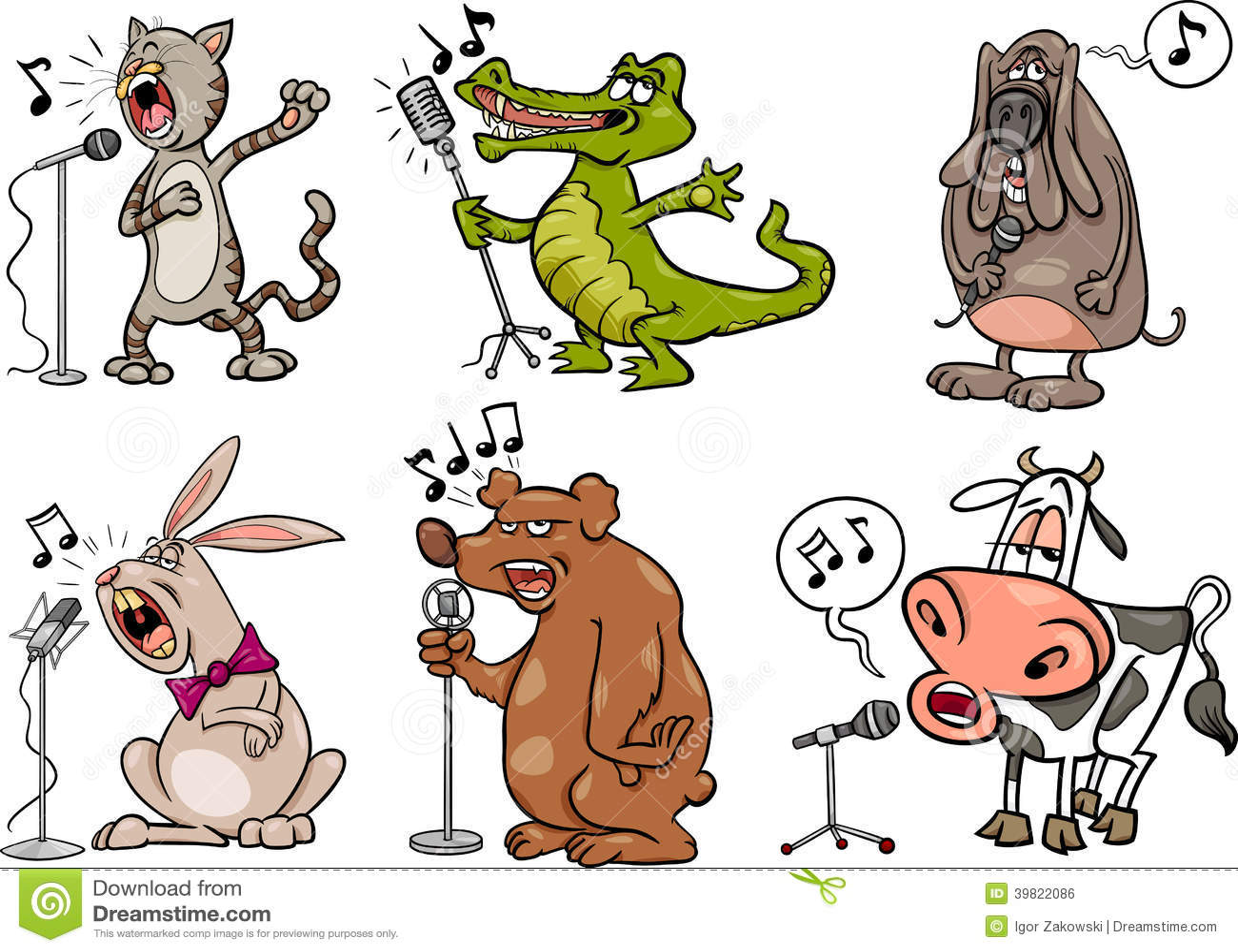 Los animales del canto fijaron el ejemplo de la historieta