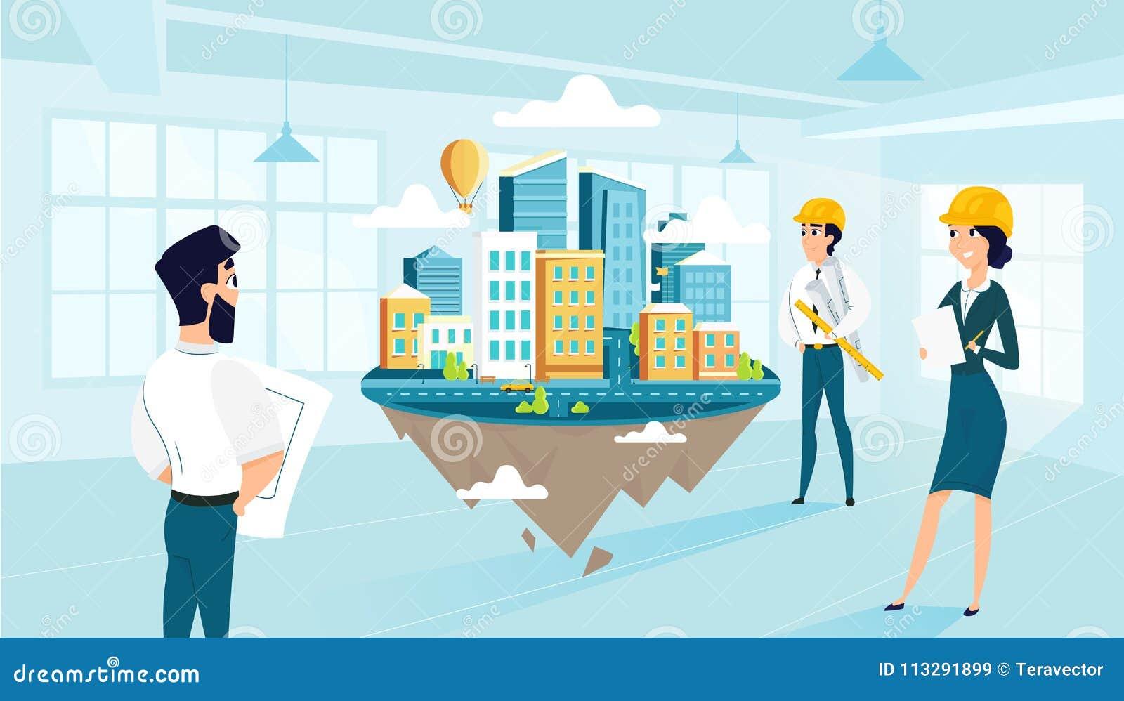Los Arquitectos Del Grupo Crean Y Proyecto De La