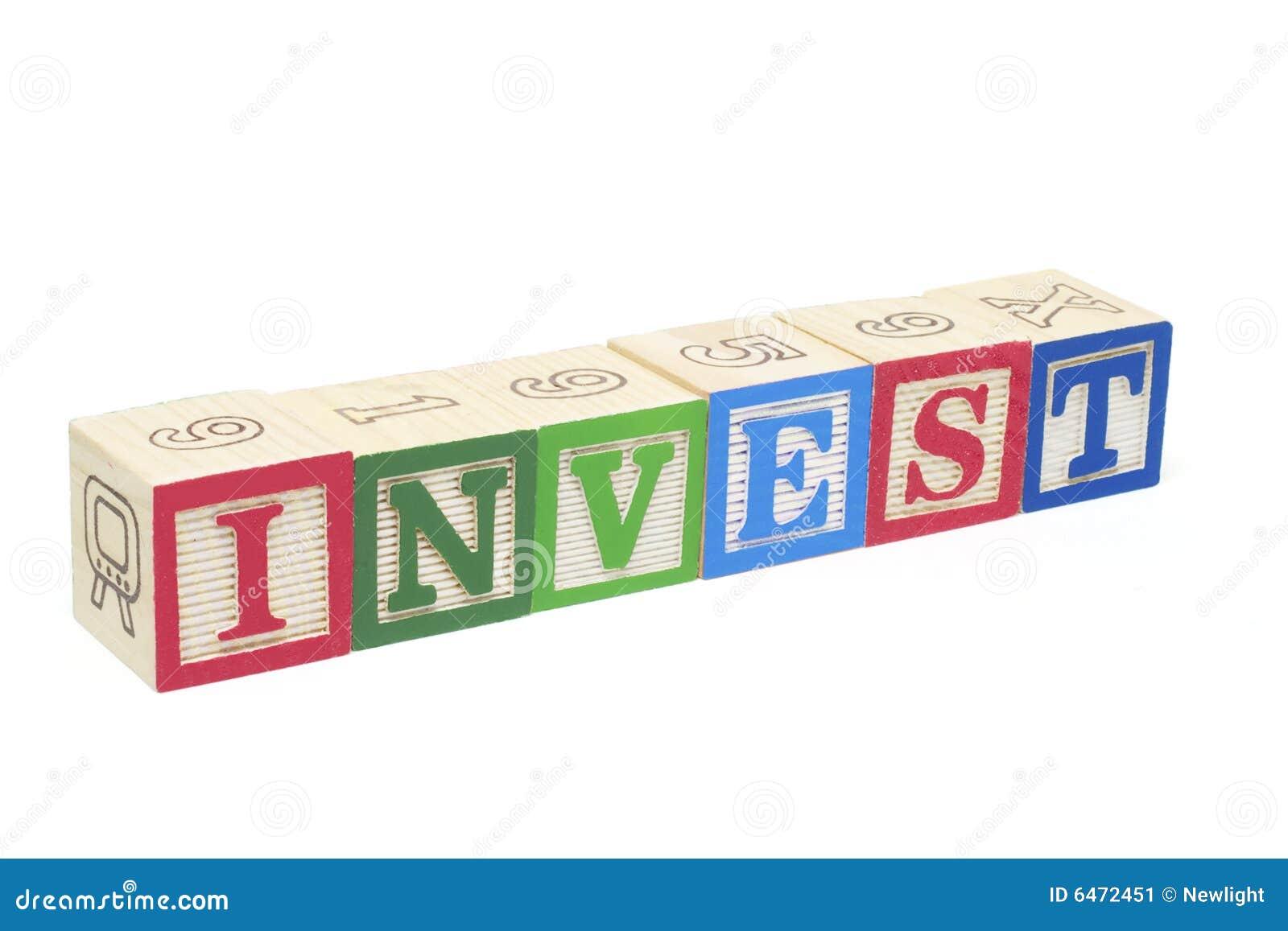 Los bloques del alfabeto - invierta